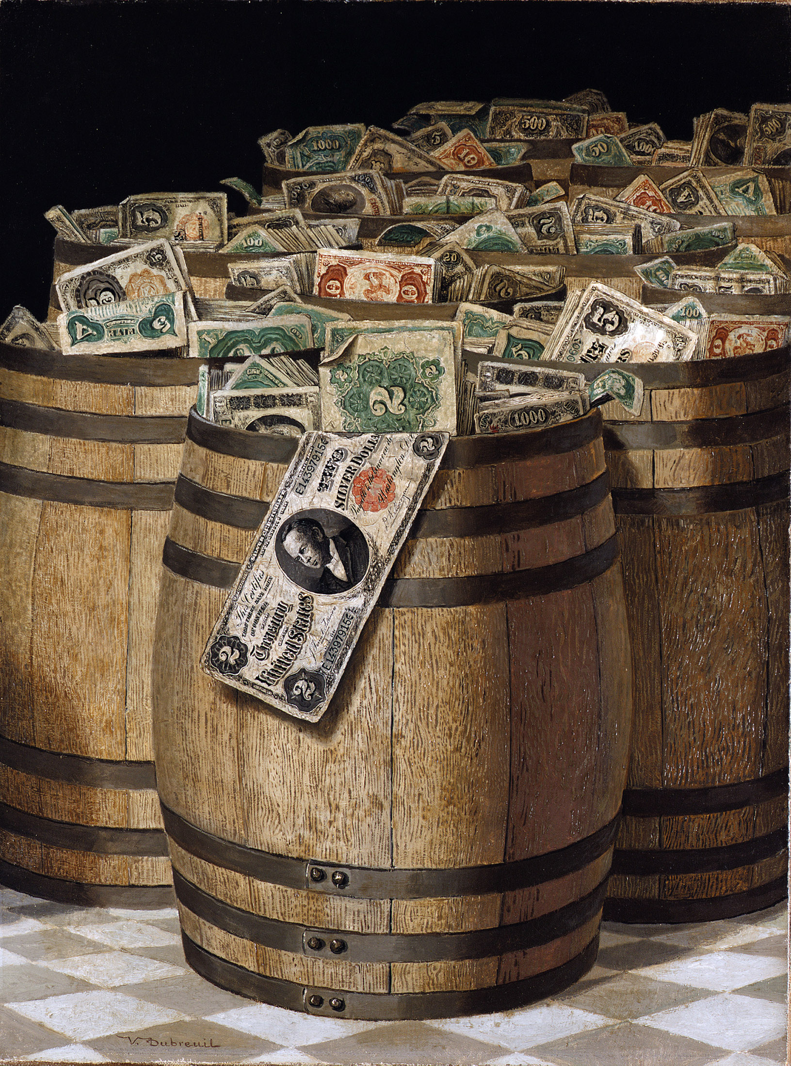 Barrels of Money, by Victor Dubreuil, c. 1890.