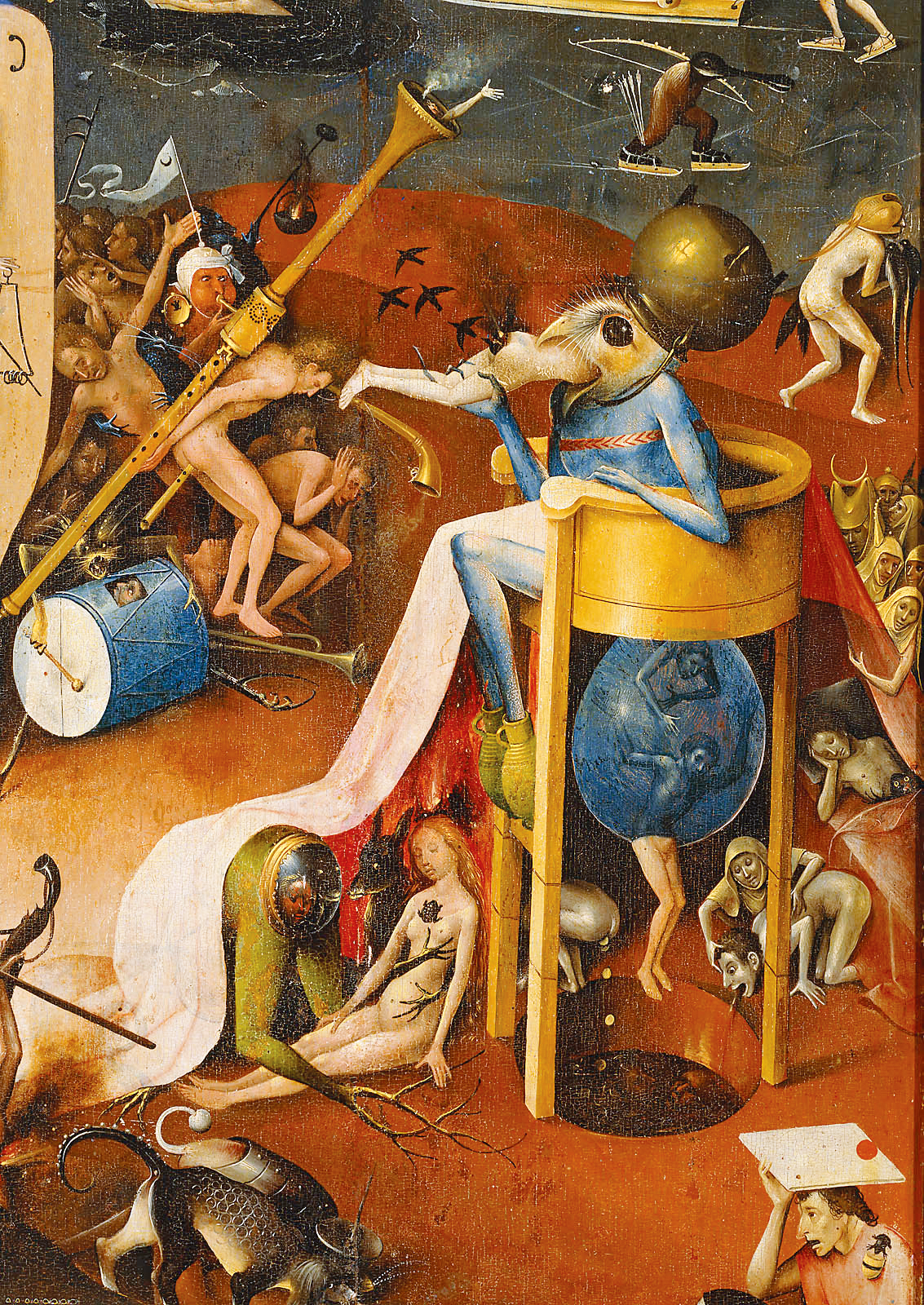 Hell (detail), from The Garden of Delights, by Hieronymus Bosch, c. 1480. Prado Museum, Madrid.
