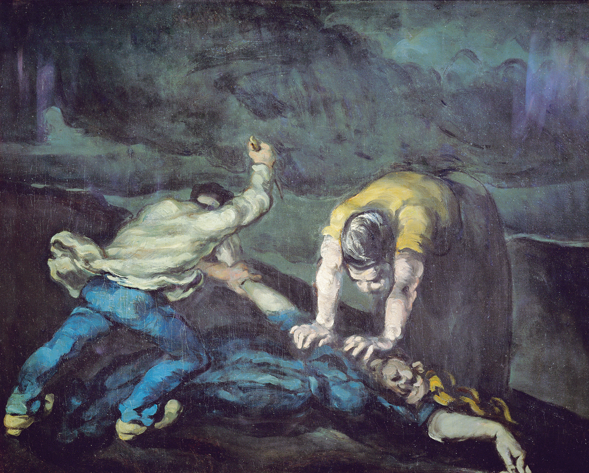 The Murder, by Paul Cézanne, 1868. Walker Art Gallery, Liverpool, England.
