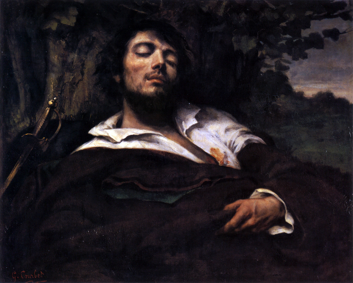 The Wounded Man, self-portrait by Gustave Courbet, c. 1844–1854. Musée d'Orsay, Paris, France.