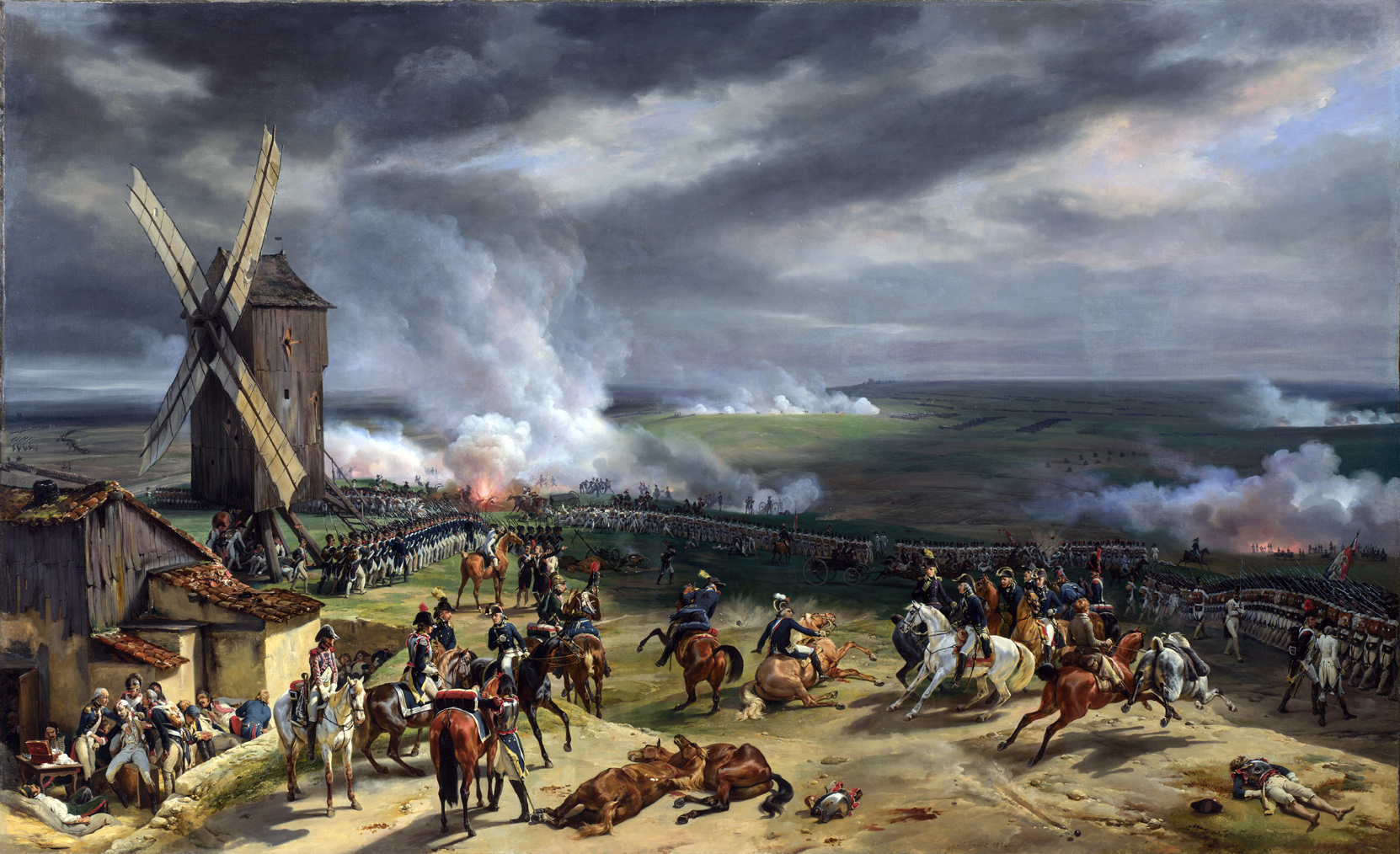The Battle of Valmy, 10th September 1792, after H. Vernet, by Jean Baptiste Mauzaisse, 1835. Palace of Versailles, France.