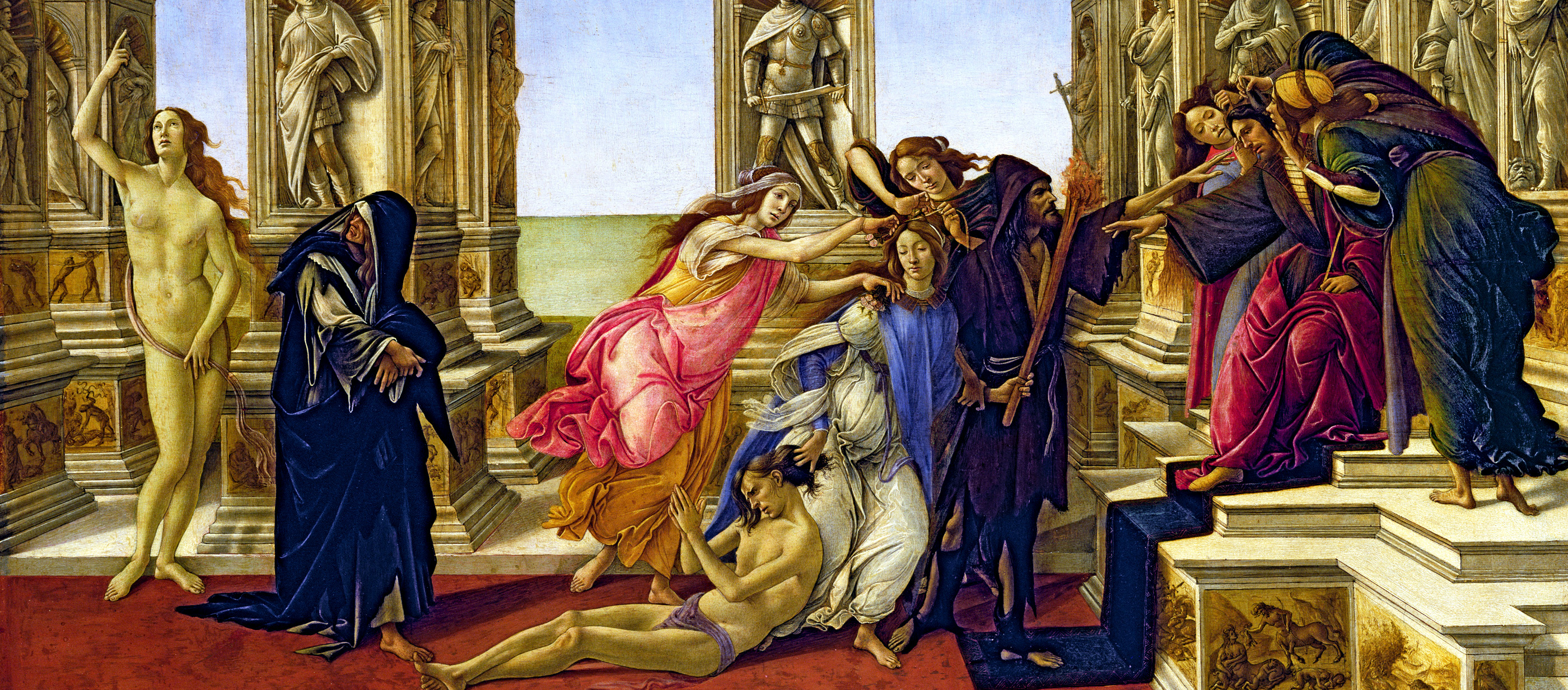 The Calumny of Apelles, by Sandro Botticelli, c. 1495