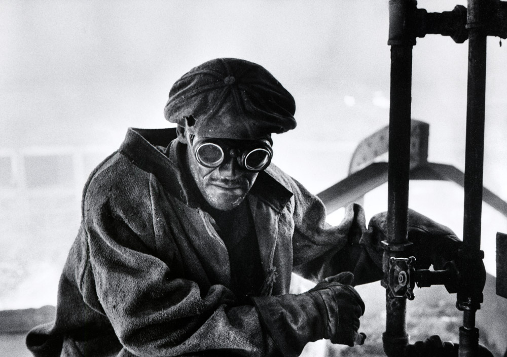 Pittsburgh steel worker, 1955. Photograph by W. Eugene Smith. © Black Star/Courtesy of George Eastman House.