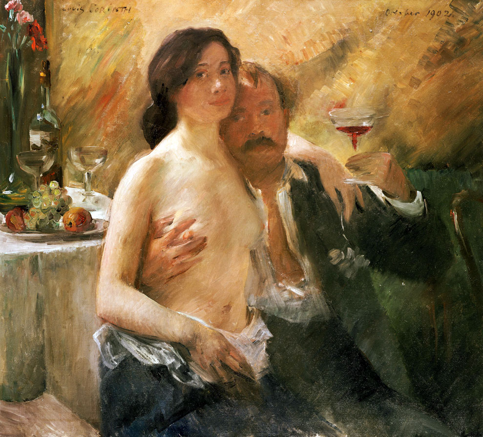 Self-portrait with Charlotte Berend, by Lovis Corinth, 1902.