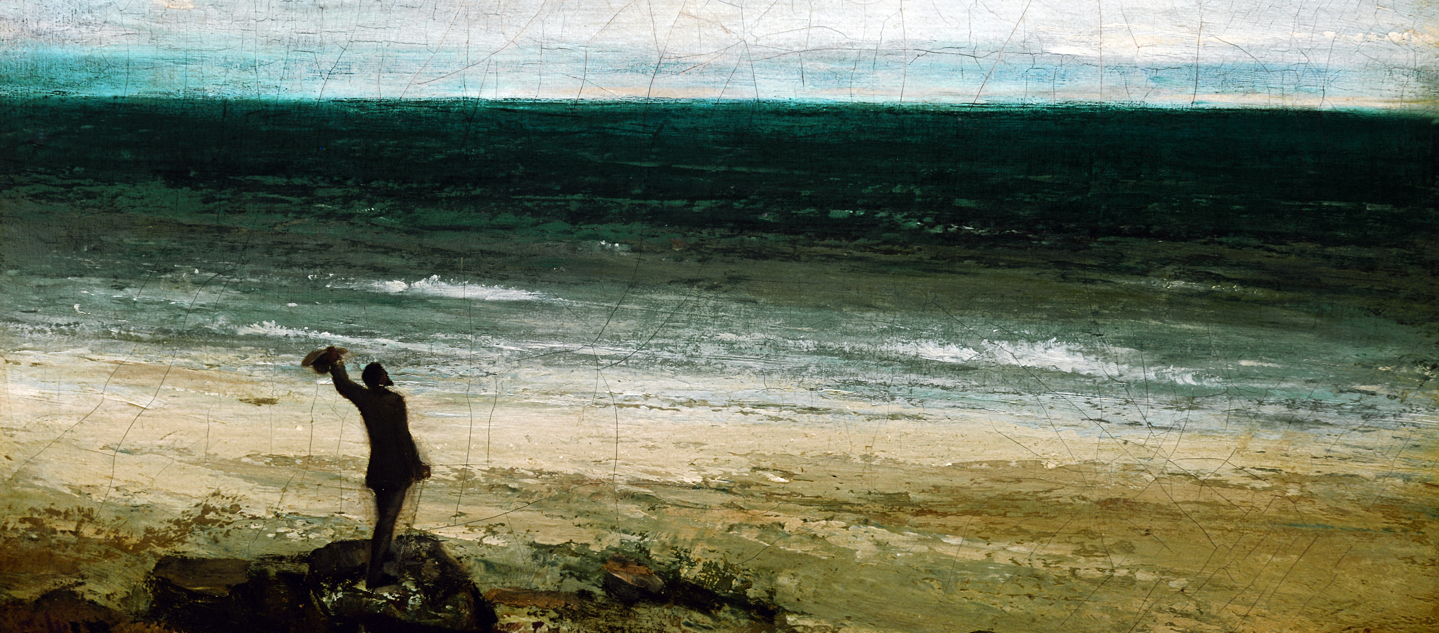 The Seashore at Palavas, by Gustave Courbet, 1854.