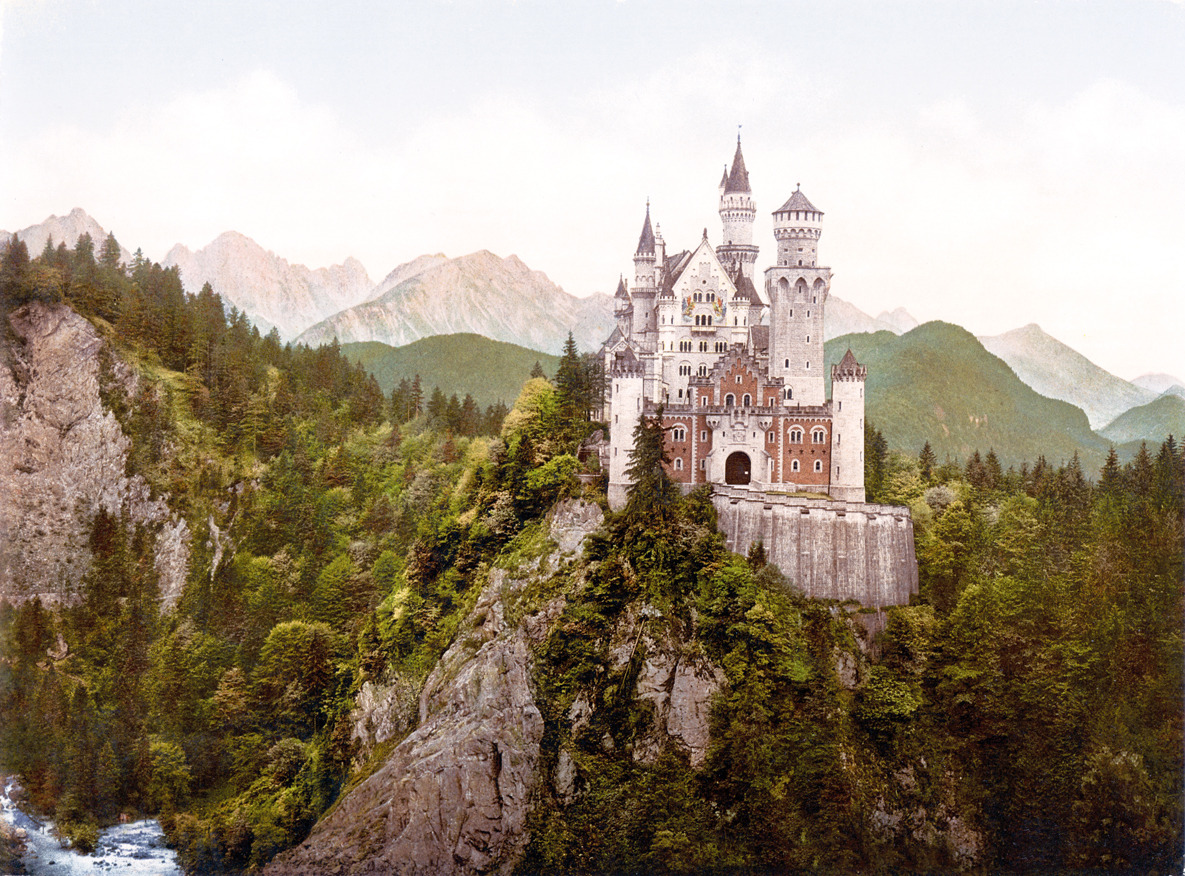 Neuschwanstein Castle, Bavaria, c. 1900. United States Library of Congress Prints and Photographs division, Washington D.C.