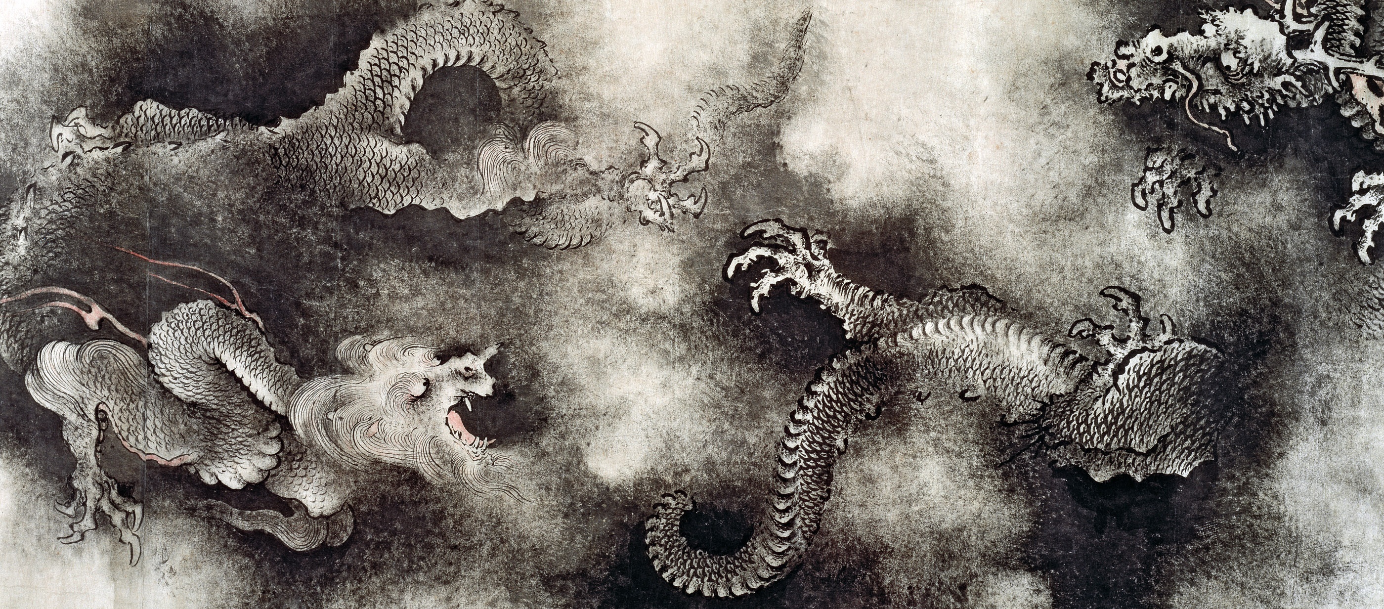 Nine Dragons (detail), by Chen Rong, 1244.