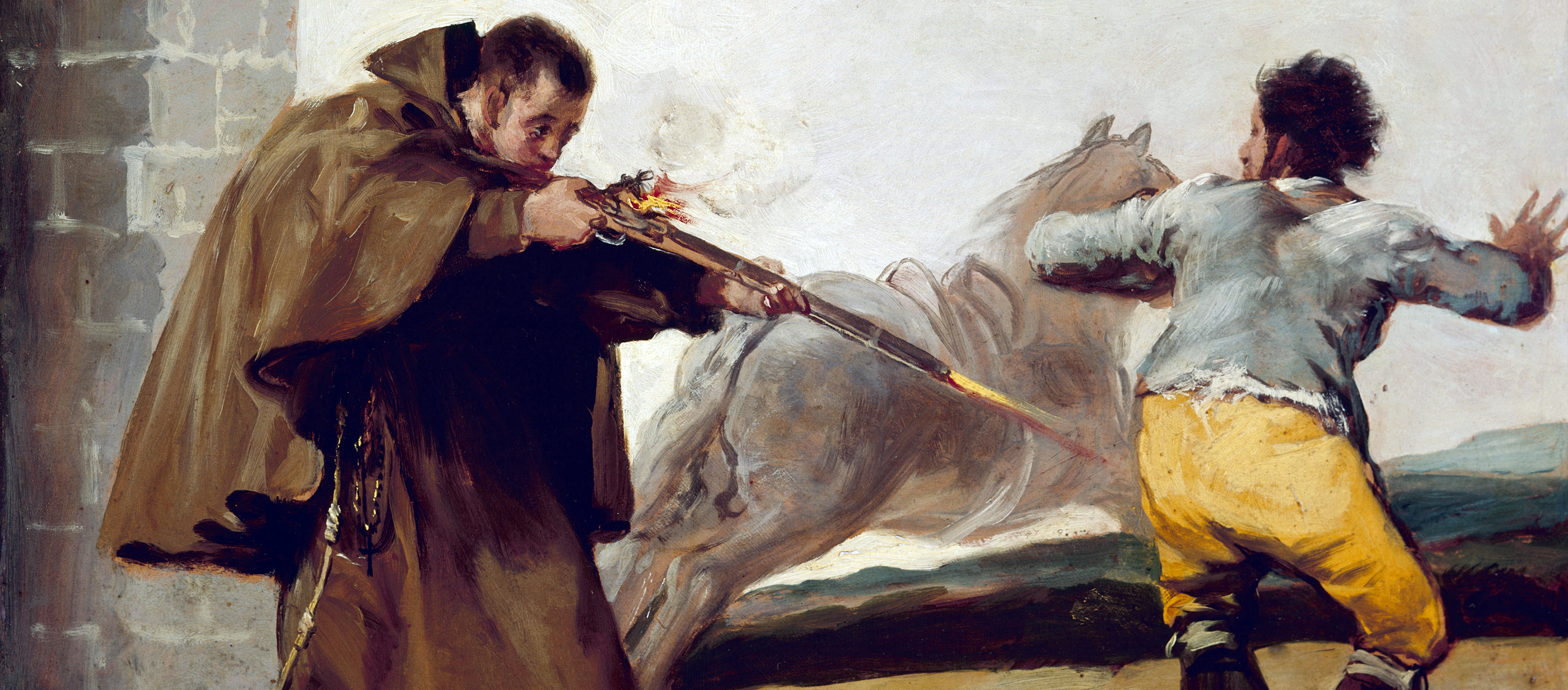 Friar Pedro Shoots El Maragato as His Horse Runs Off, by Francisco José de Goya y Lucientes, c. 1806.