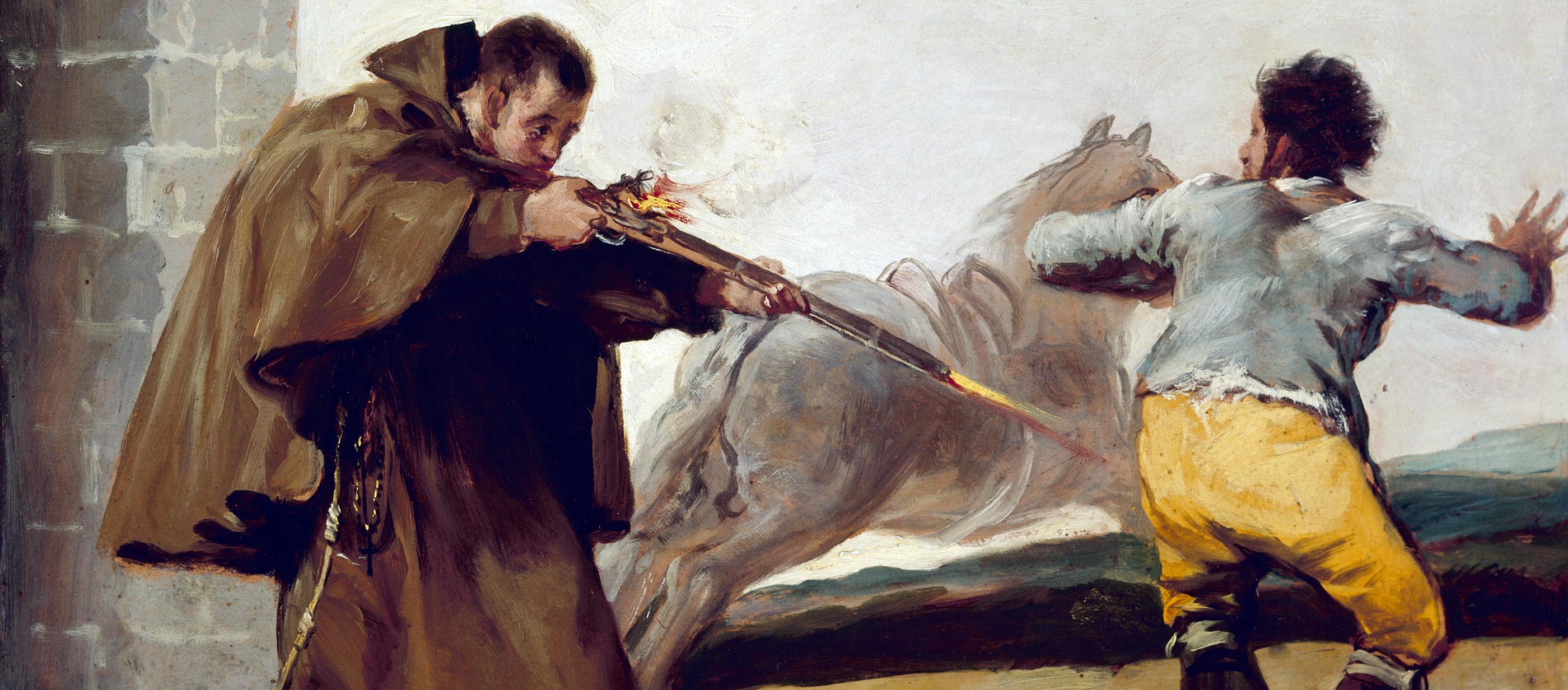 Friar Pedro Shoots El Maragato as His Horse Runs Off, by Francisco José de Goya y Lucientes, c. 1806.