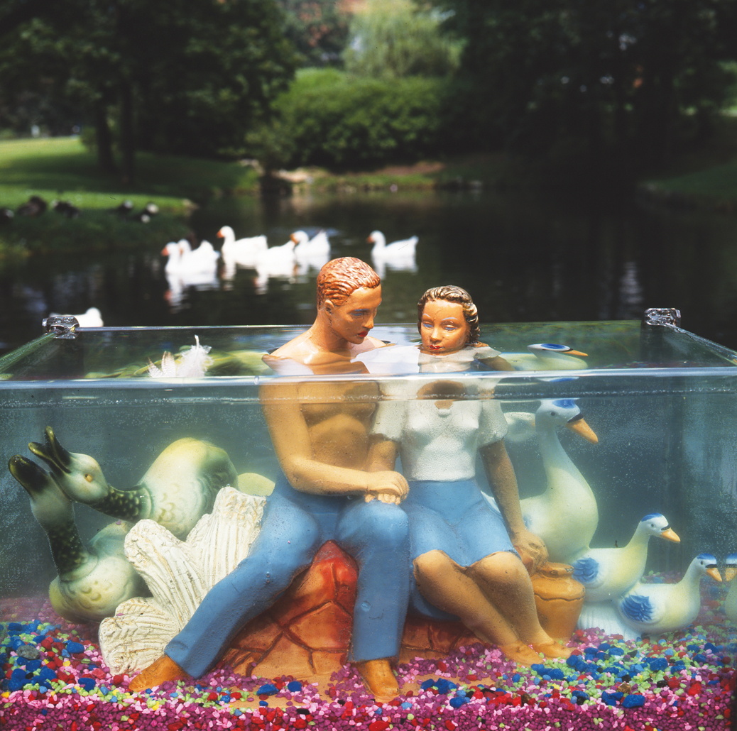 """""""Ducks and Lovers,"""" 2008. Photograph by Arthur Tress. © Arthur Tress, Courtesy ClampArt Gallery."""