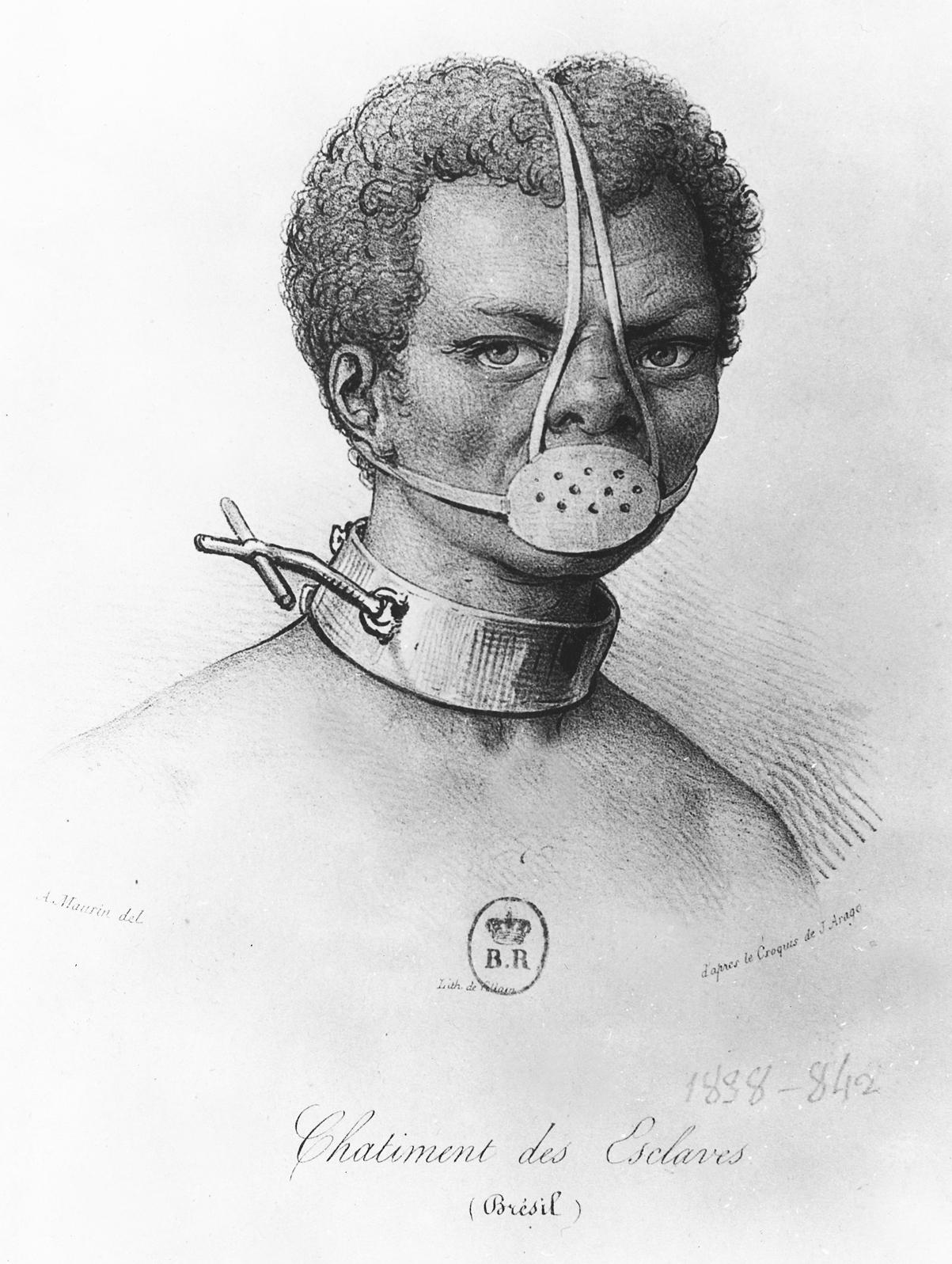 Escrava Anastacia, Brazilian slave, c. 1840.