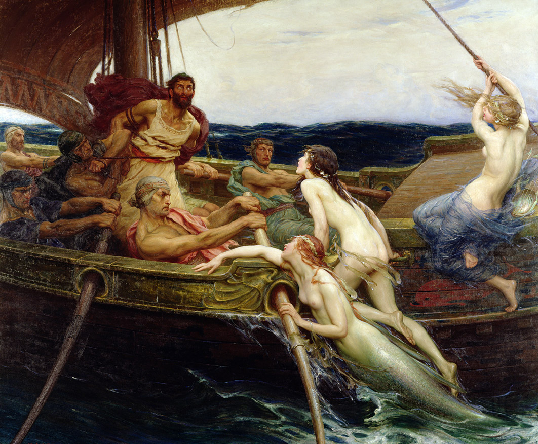 Ulysses and the Sirens, by Herbert James Draper, 1909.