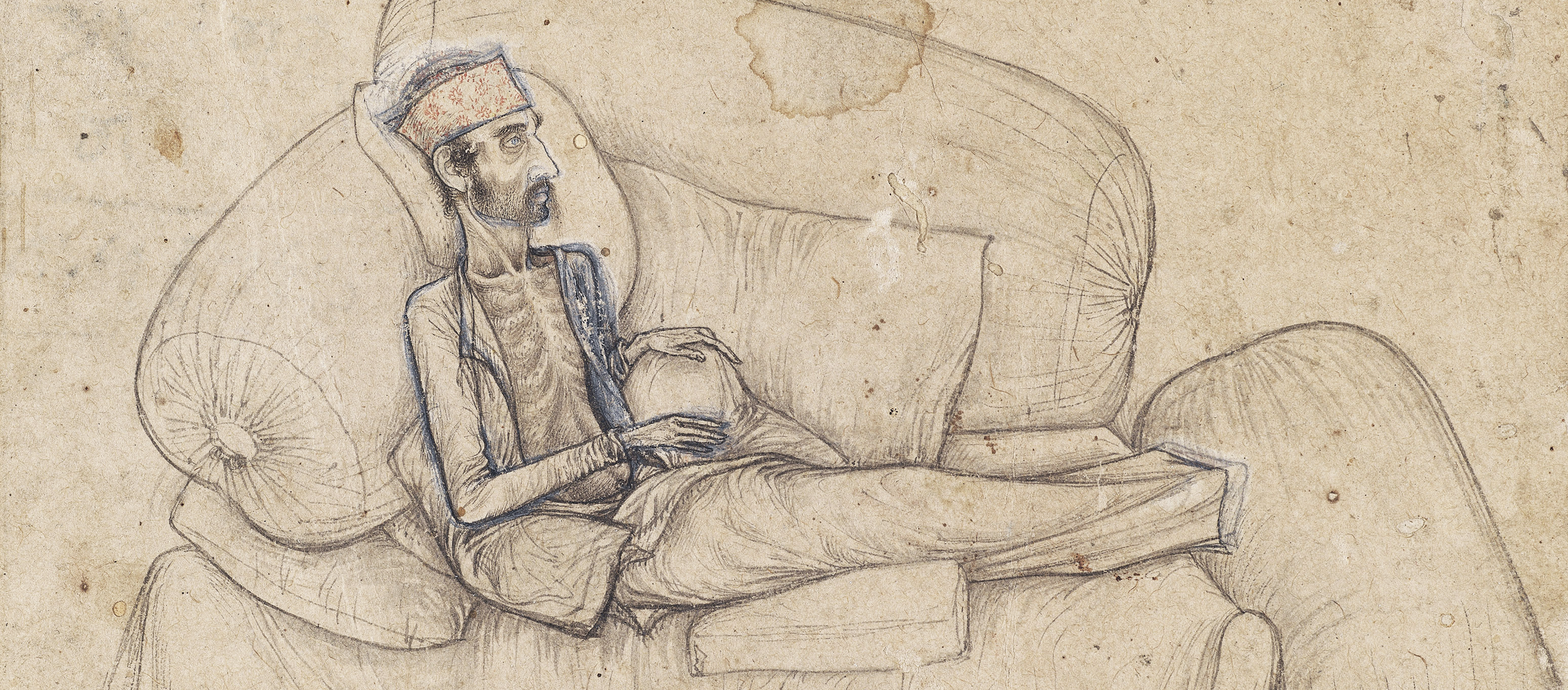 Dying Inayat Khan, attributed to Balchand, c. 1618