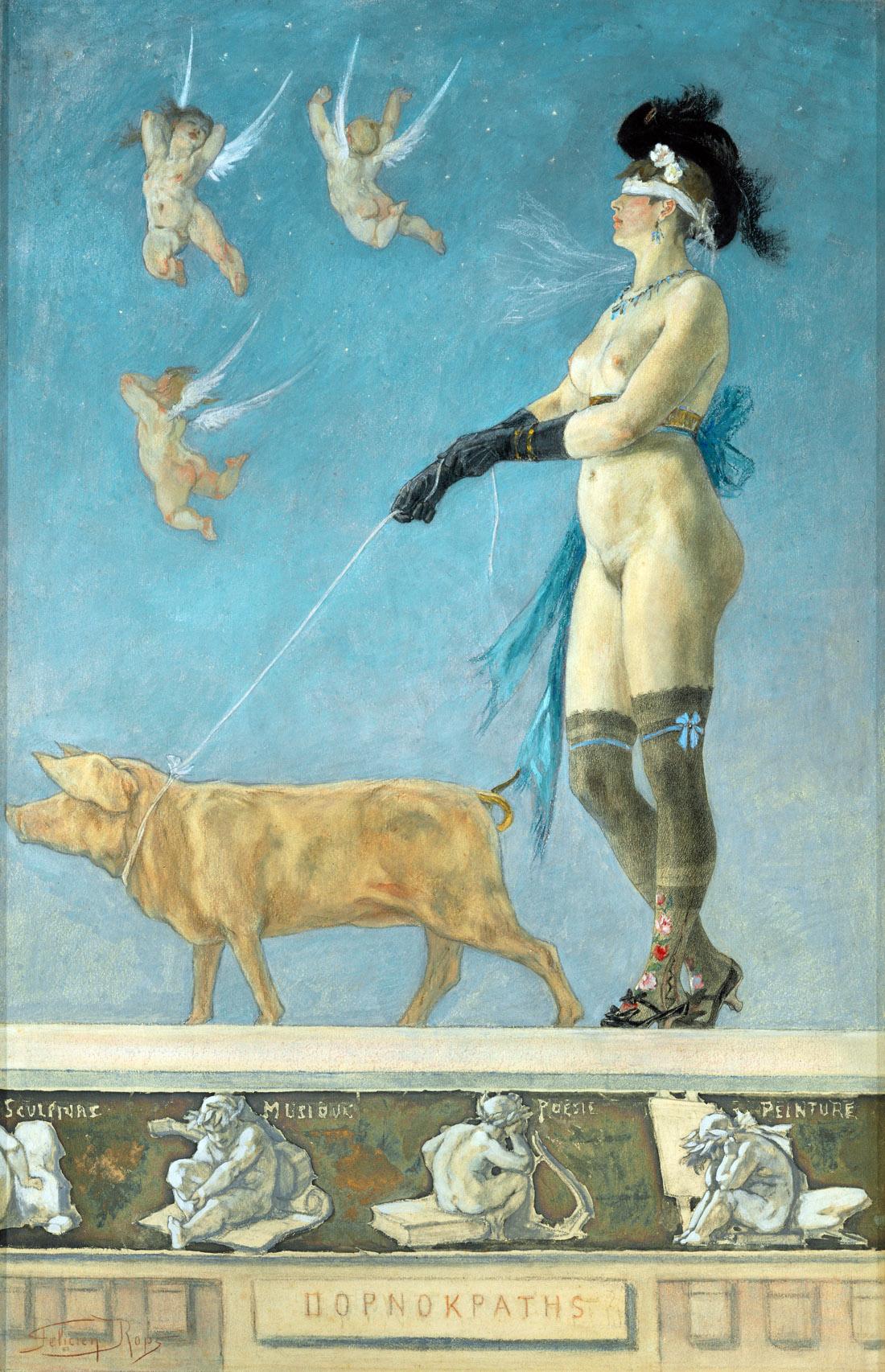 Pornokrates, by Felicien Rops, 1878.