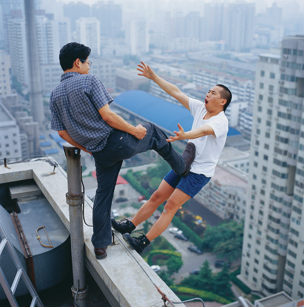 25 Levels of Freedom, by Li Wei, Beijing, 2004. Photograph, 59 x 59 inches.