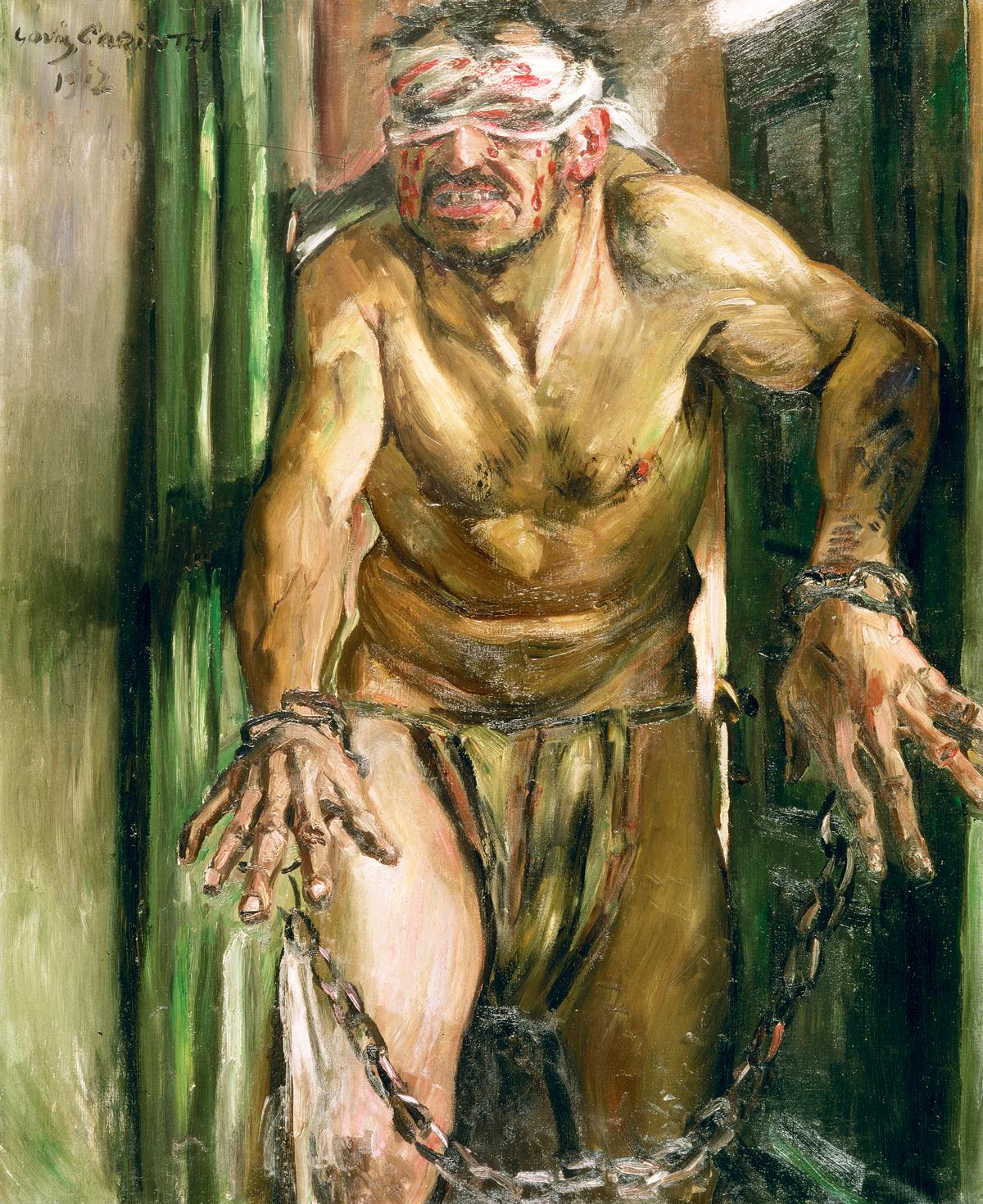 Samson Blinded, by Lovis Corinth, 1912. Alte Nationalgalerie, Berlin, Germany.