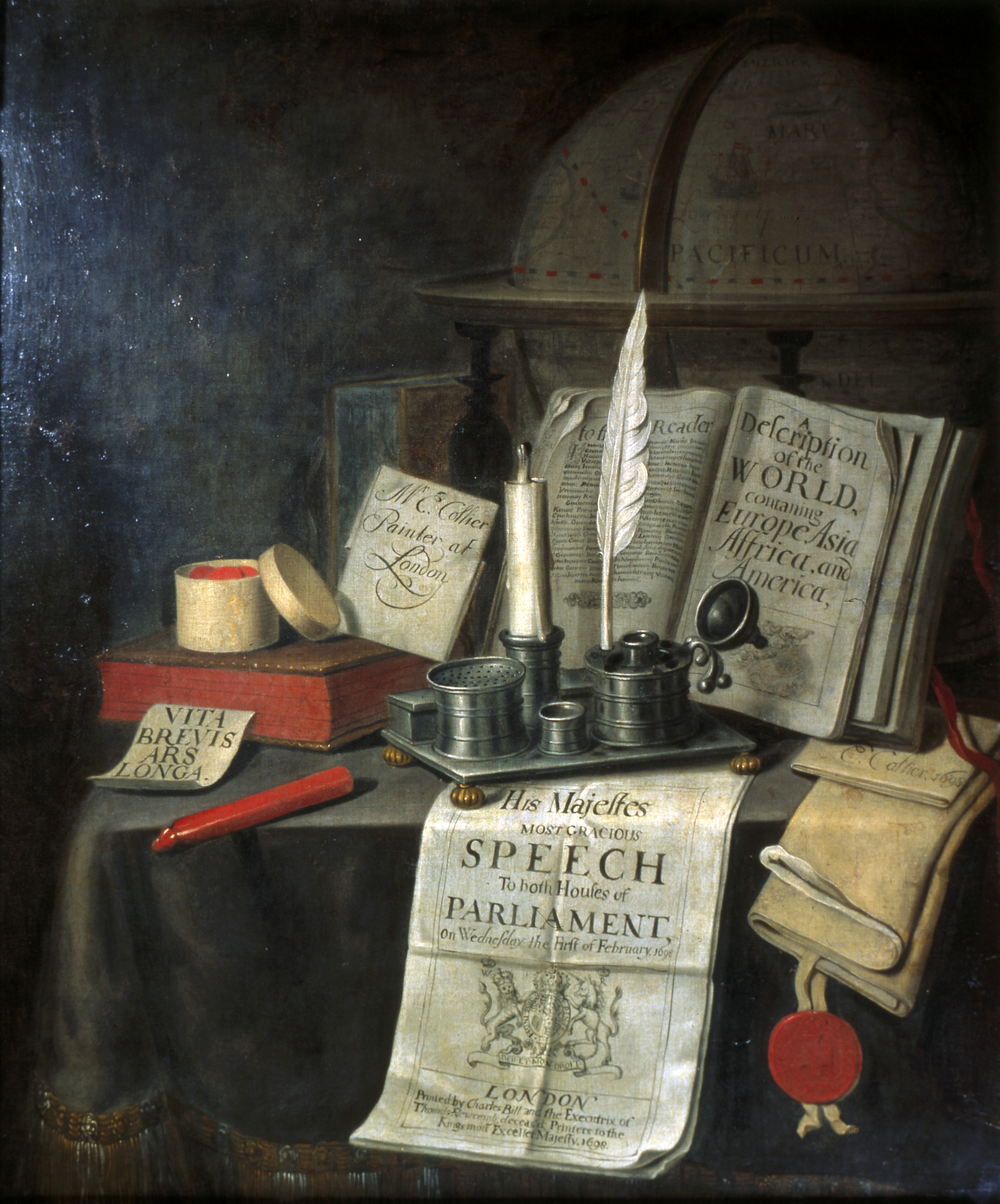 Still Life, by Edward Collier, 1699.