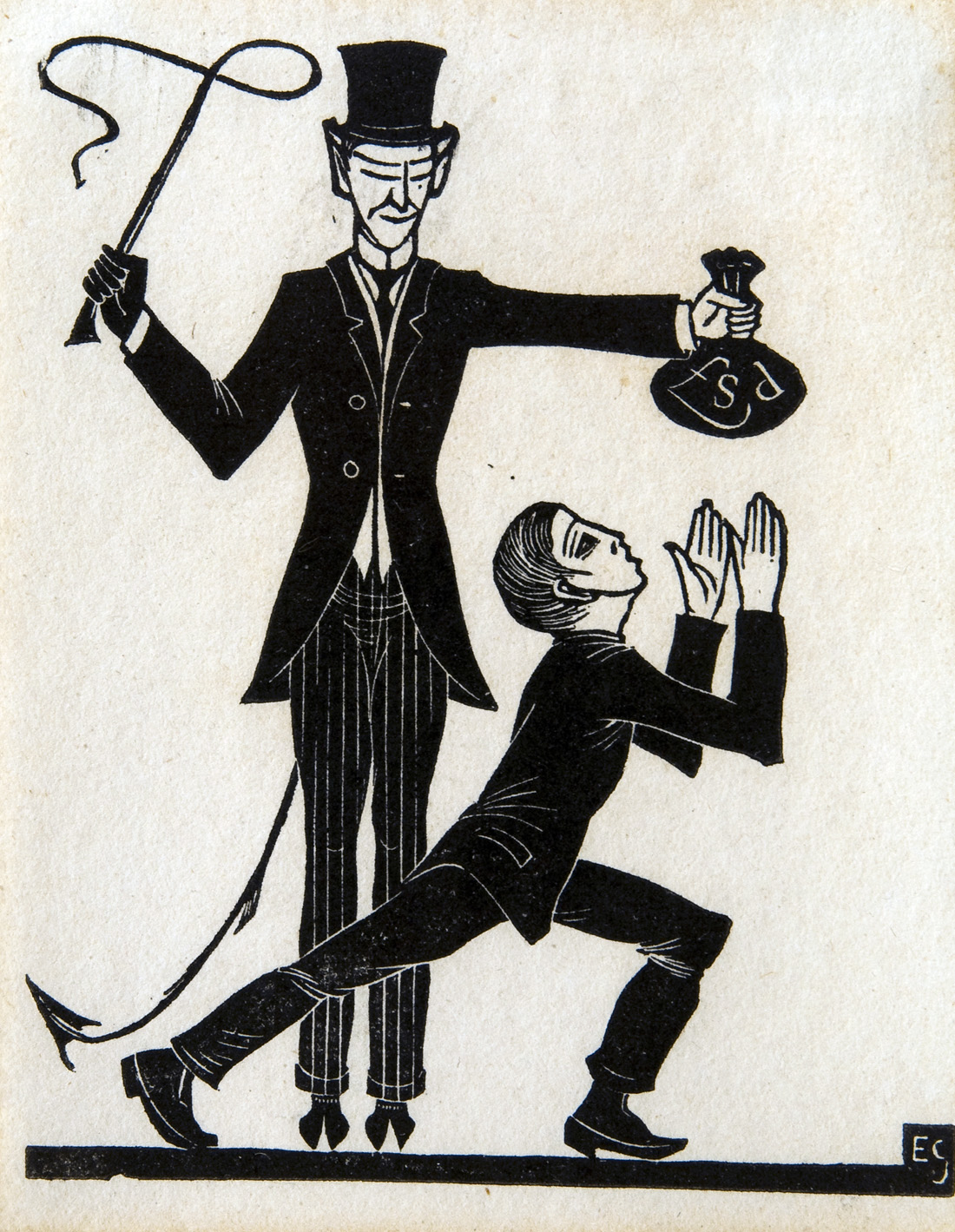 The Money Bag and the Whip, by Eric Gill, 1915. © Private Collection/ Bridgeman Images