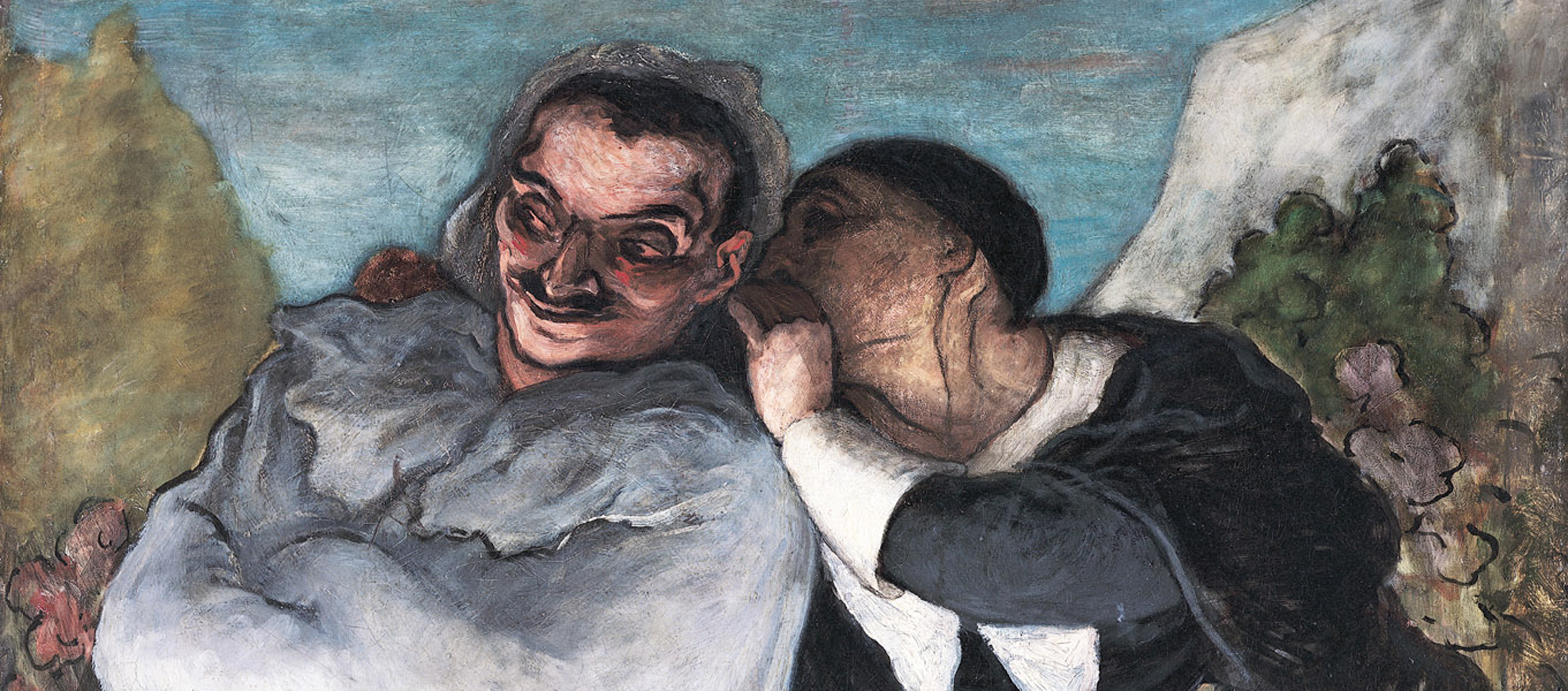 Crispin and Scapin, by Honore Daumier, c. 1864.