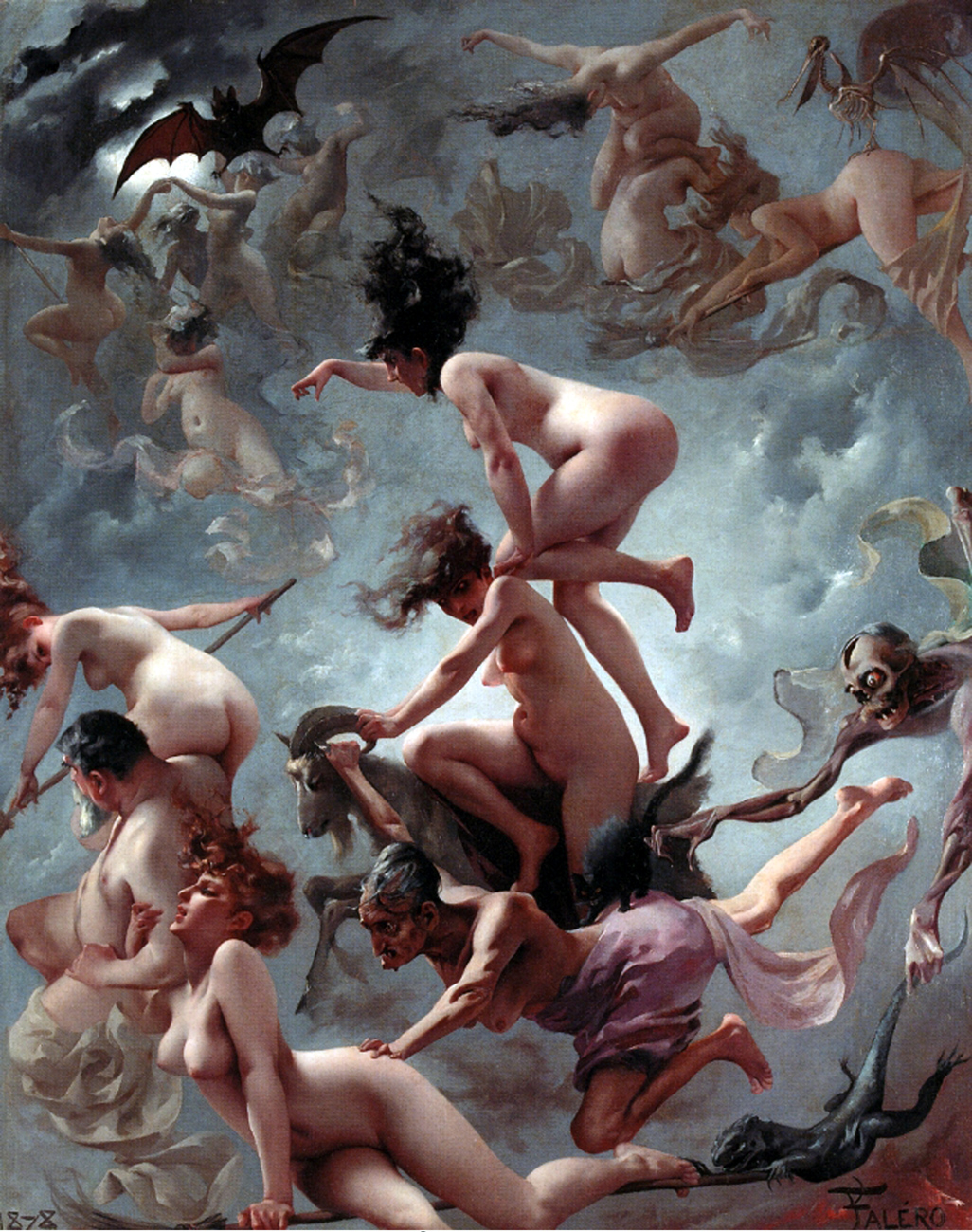 Faust's Vision, by Luis Ricardo Falero, 1878.