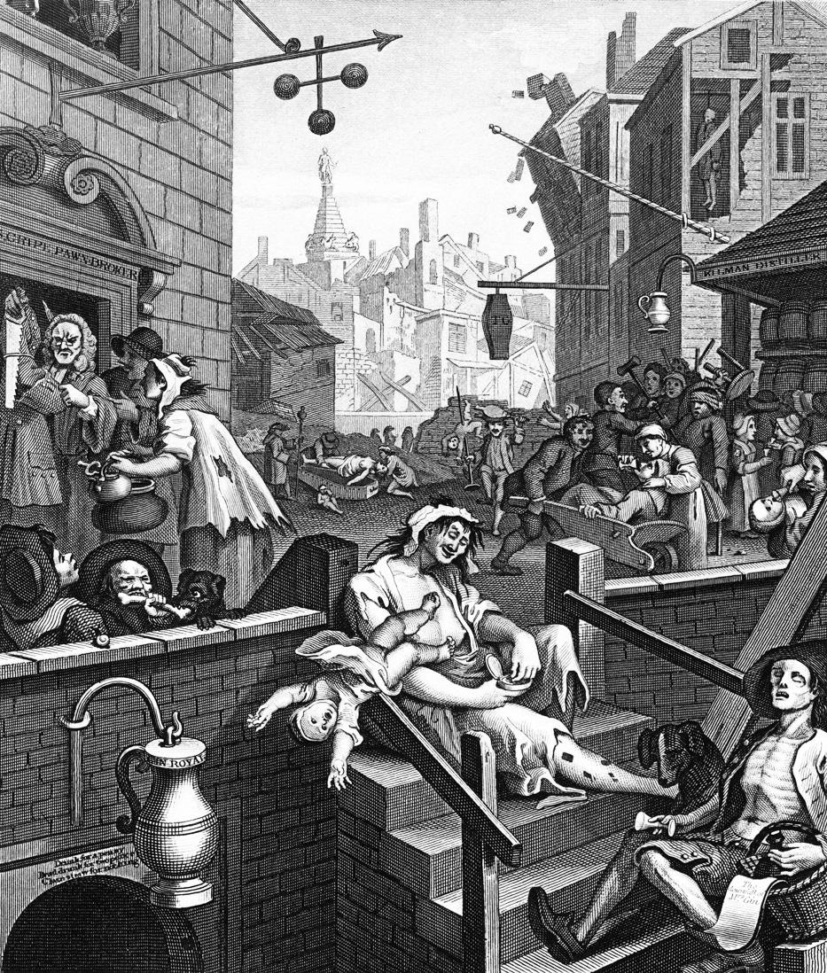 Gin Lane, by William Hogarth, 1751.