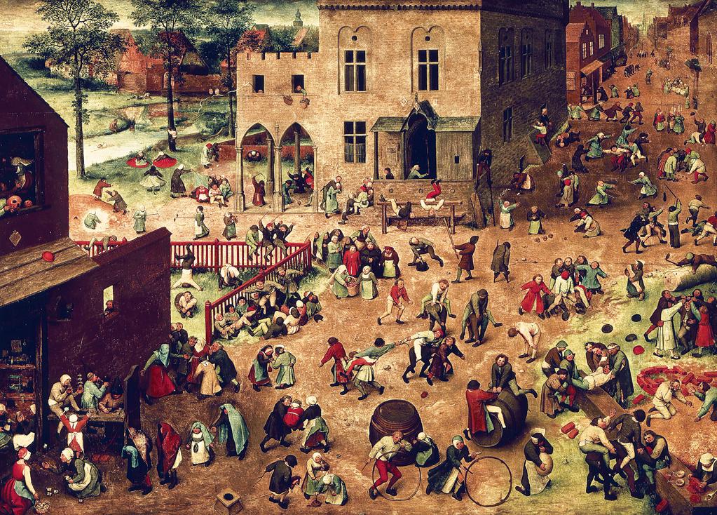 Children's Games, by Pieter Bruegel the Elder, 1560. Kunsthistorisches Museum, Vienna, Austria.