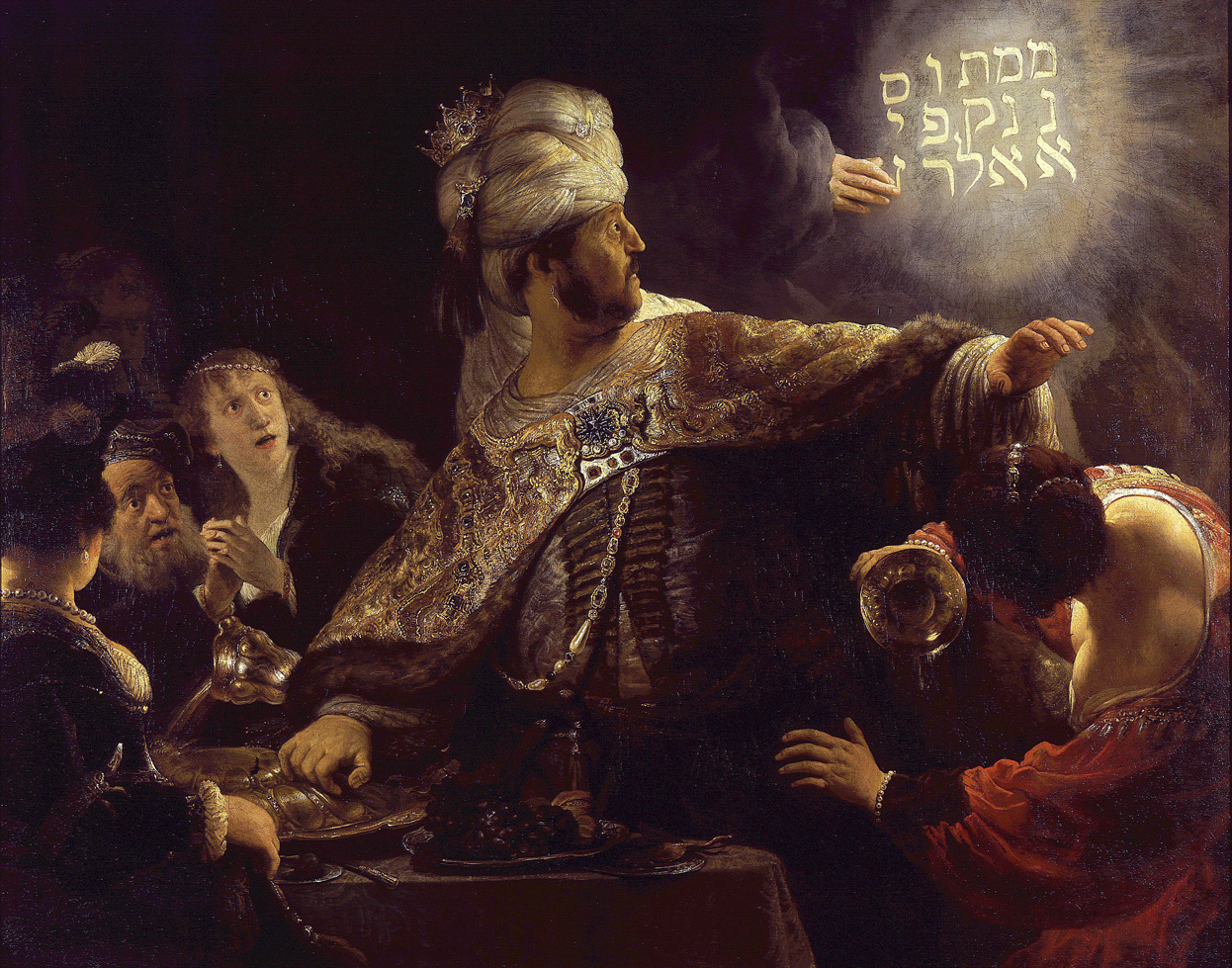 Belshazzar's Feast, by Rembrandt van Rijn, c. 1635. National Gallery, London.