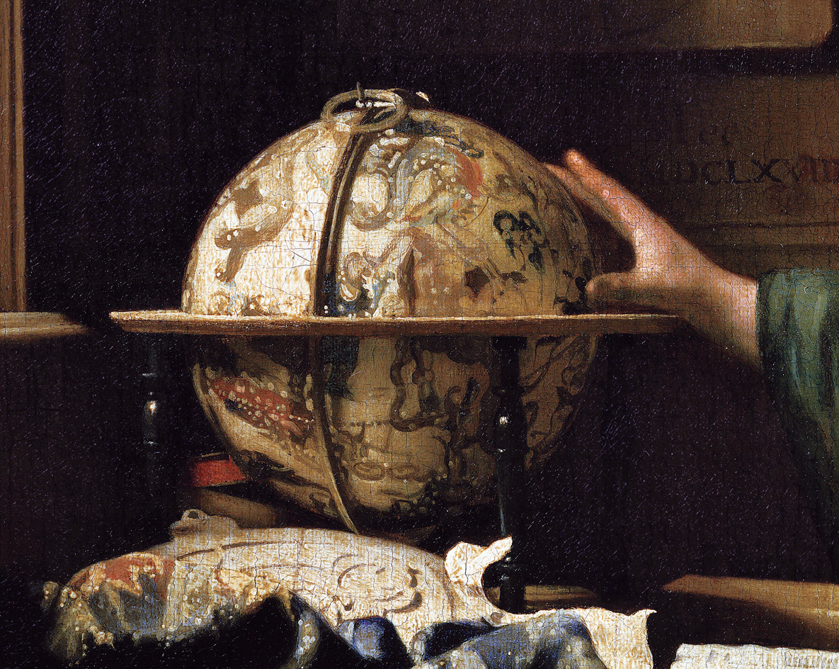 The Astronomer (detail), by Jan Vermeer, 1668. Louvre Museum, Paris, France.