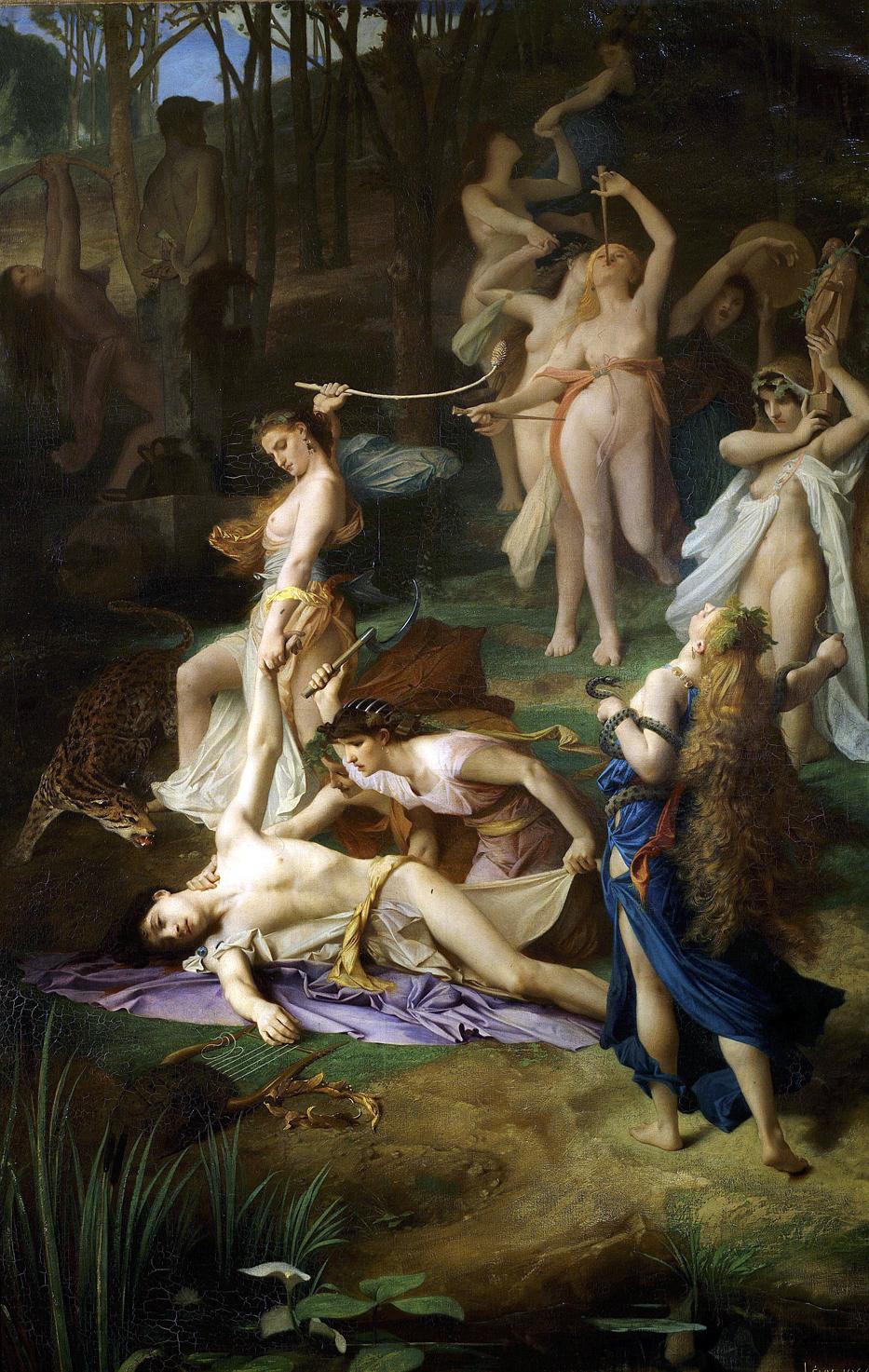 Death of Orpheus, by Émile Lévy, 1866.