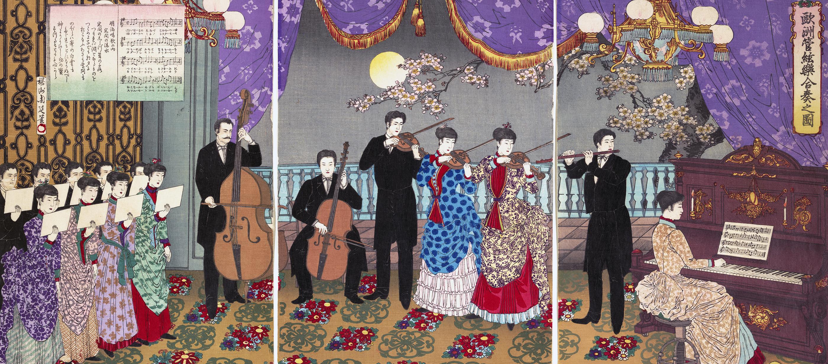 Concert of European Music, by Yoshu Chikanobu, 1889.