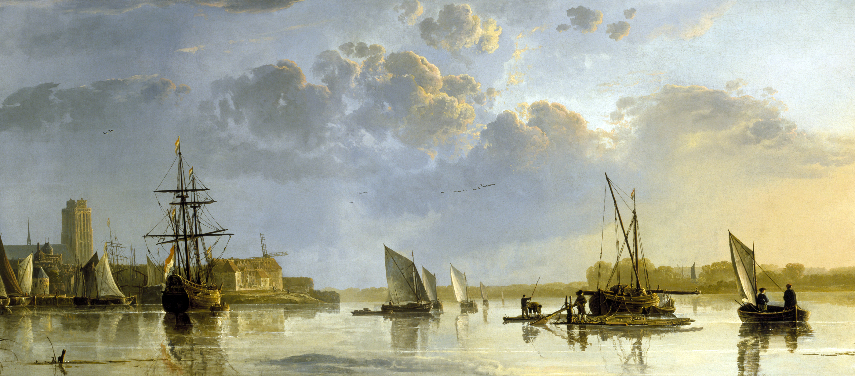 A View of Dordrecht, by Aelbert Cuyp, c. 1650.