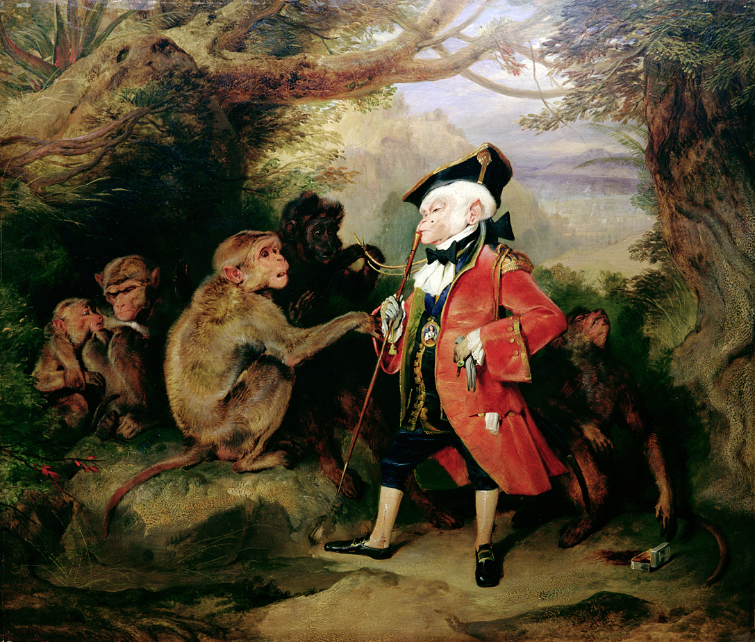 The Monkey Who Had Seen the World, by Edwin Landseer, 1827.