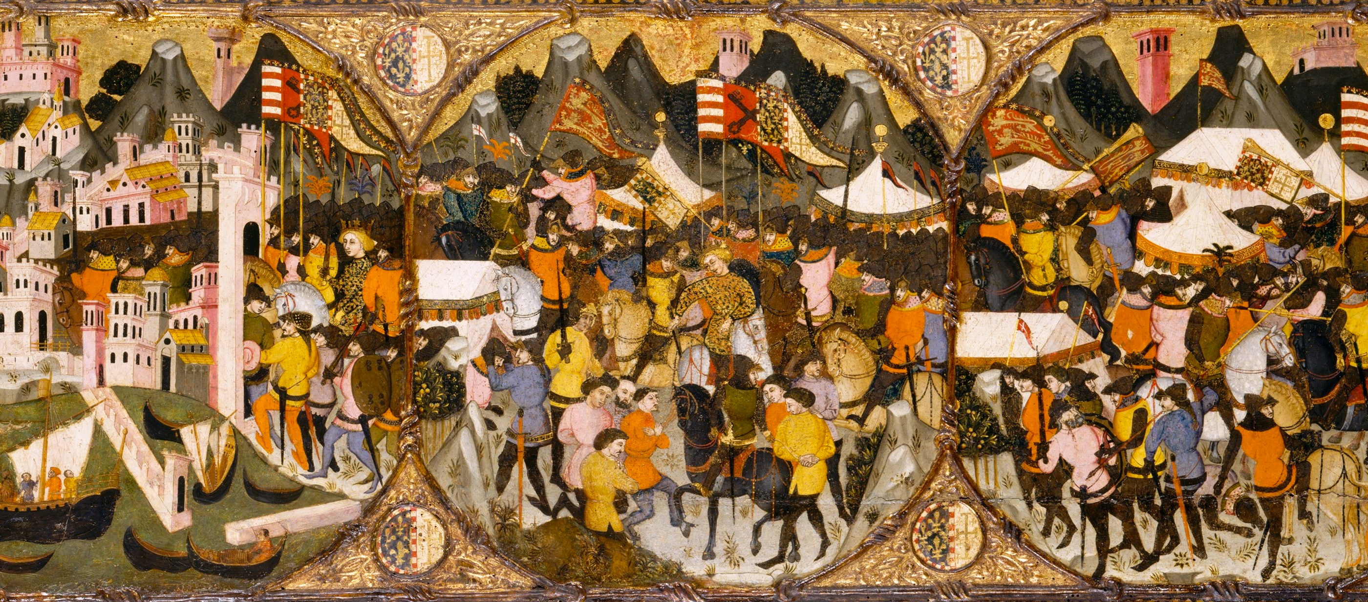 The Conquest of Naples by Charles of Durazzo, by Master of Charles of Durazzo, 1381–82. The Metropolitan Museum of Art, Rogers Fund, 1906.