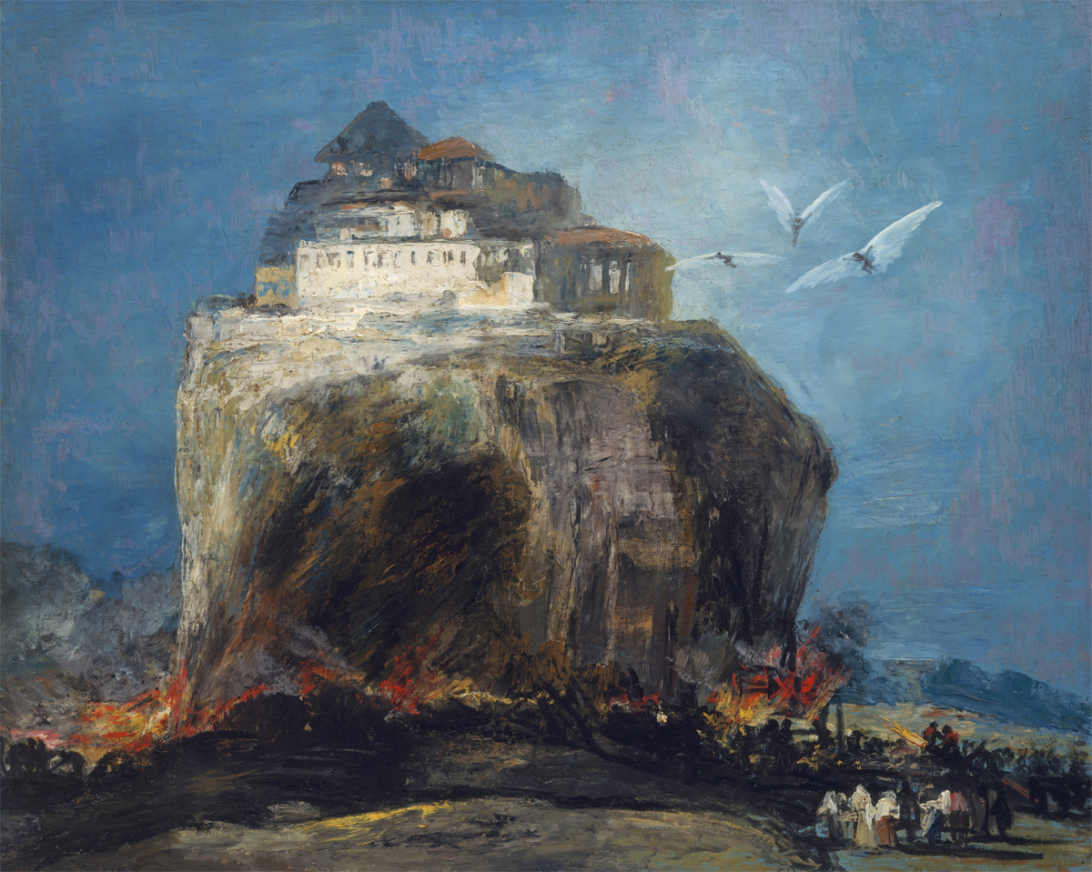 A City on a Rock, in the style of Goya, 19th century. The Metropolitan Museum of Art, H. O. Havemeyer Collection, Bequest of Mrs. H. O. Havemeyer, 1929.