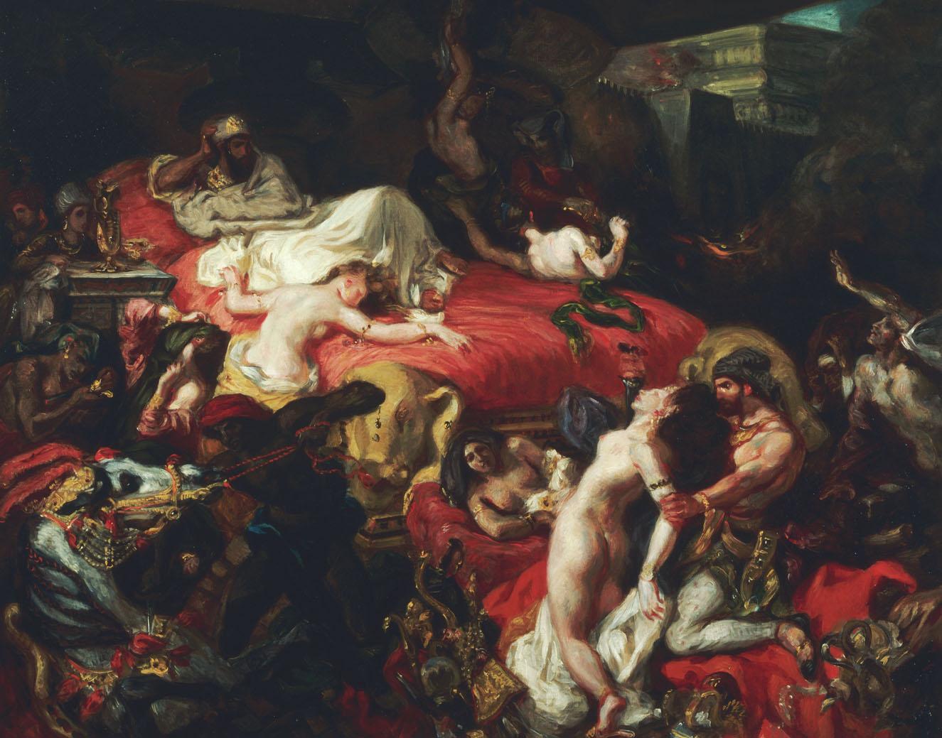 The Death of Sardanapalus, by Eugène Delacroix, 1844. Louvre Museum, Paris, France.