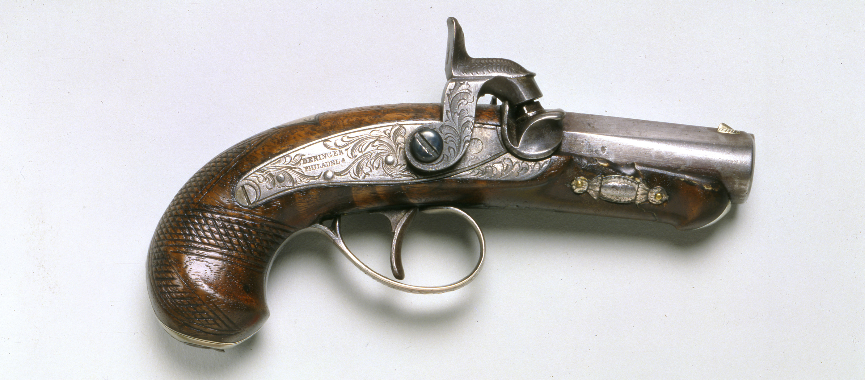 Derringer pistol used by John Wilkes Booth to assassinate President Abraham Lincoln