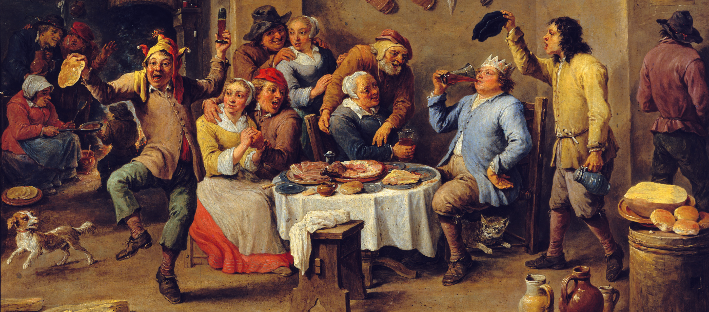 Twelfth-night (The King Drinks), by David Teniers the Younger,
