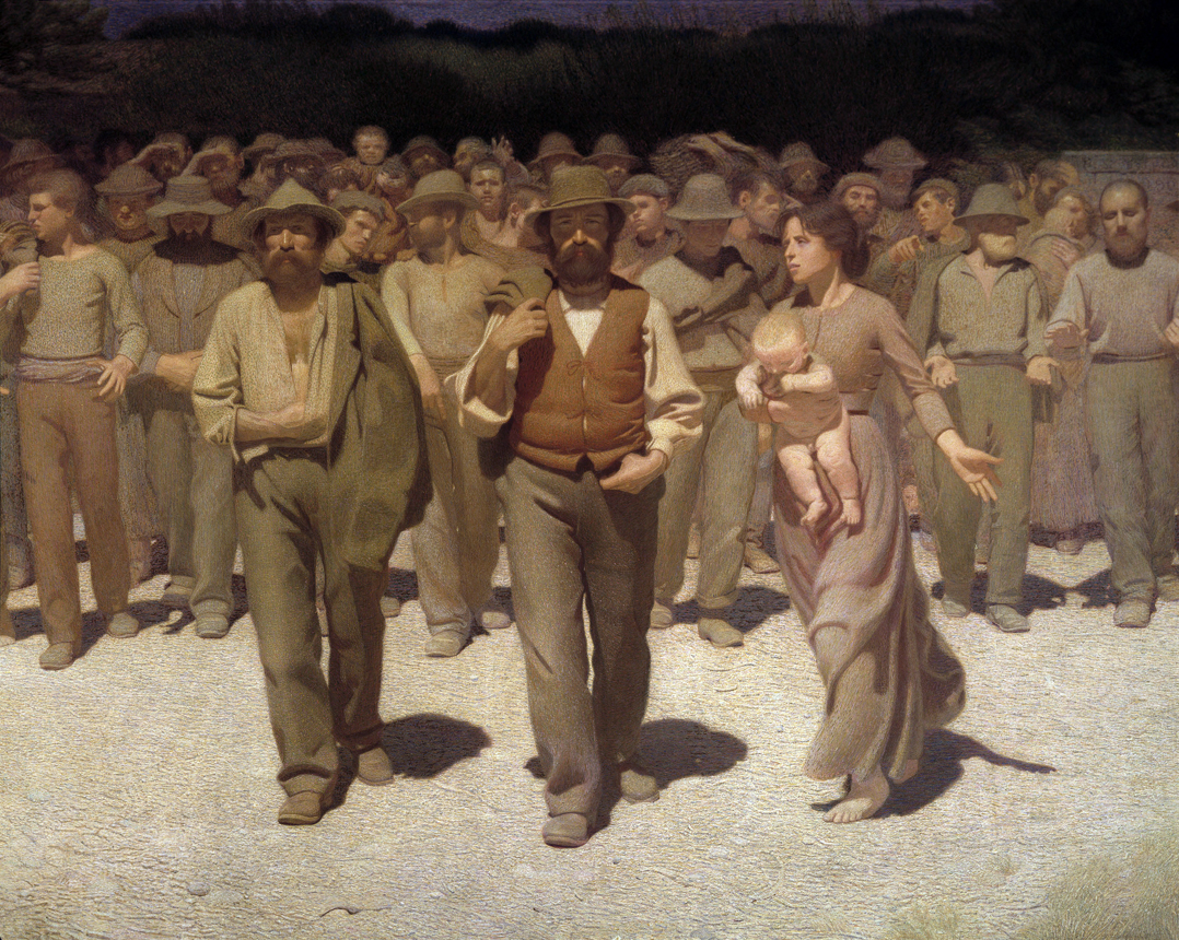 The Fourth Estate, by Giuseppe Pellizza da Volpedo, 1901.