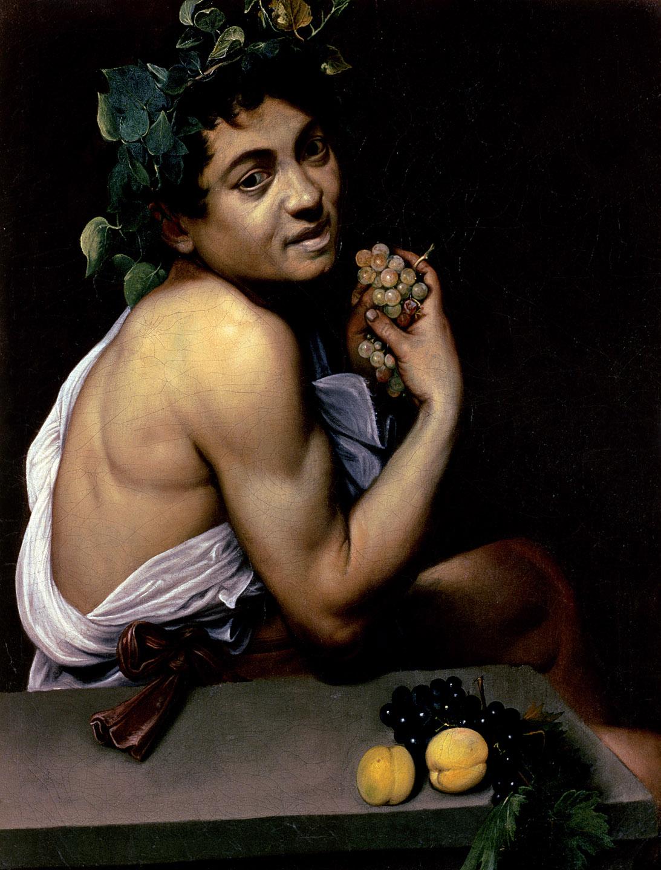 Sick Bacchus, by Michelangelo Merisi da Caravaggio