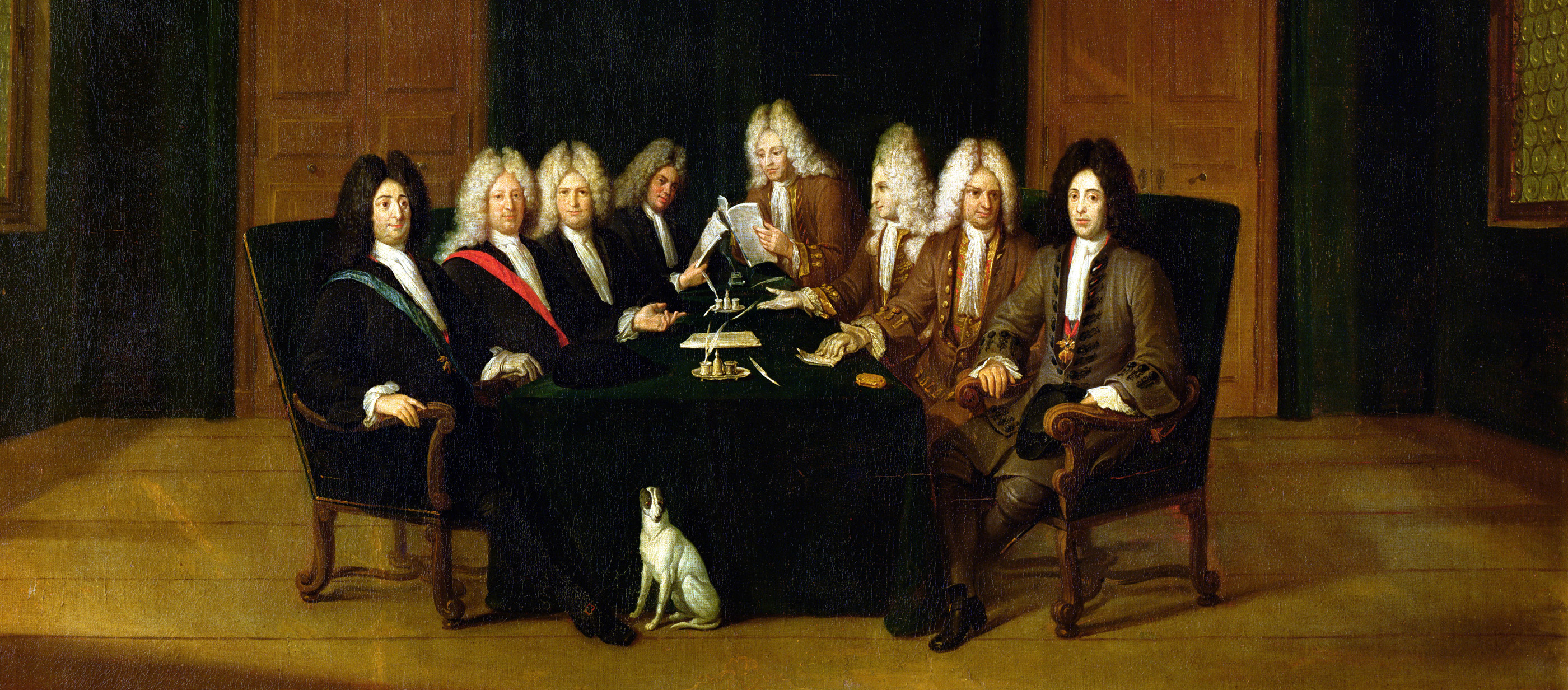 The Plenipotentiaries at the Congress of Baden, by Johann Rudolf Huber, 1714.
