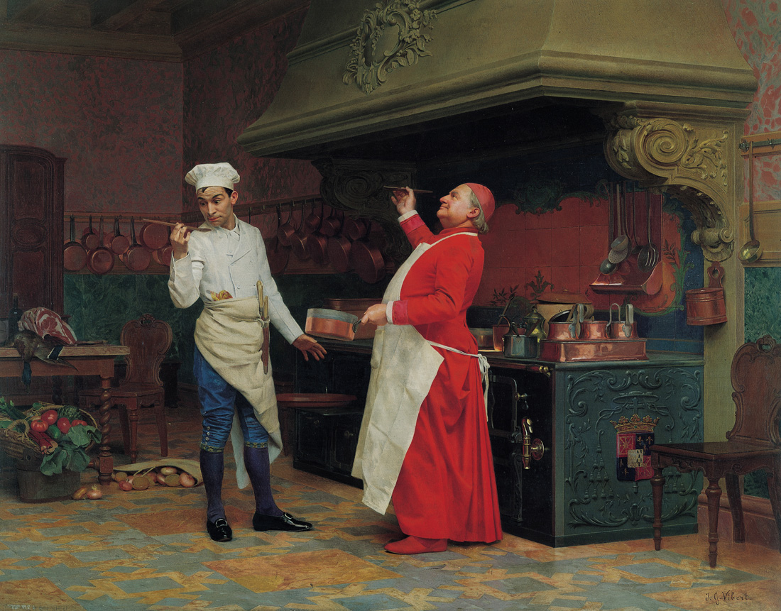 The Marvelous Sauce, by Jehan Georges Vibert, c. 1890. Albright-Knox Art Gallery, Buffalo, New York.