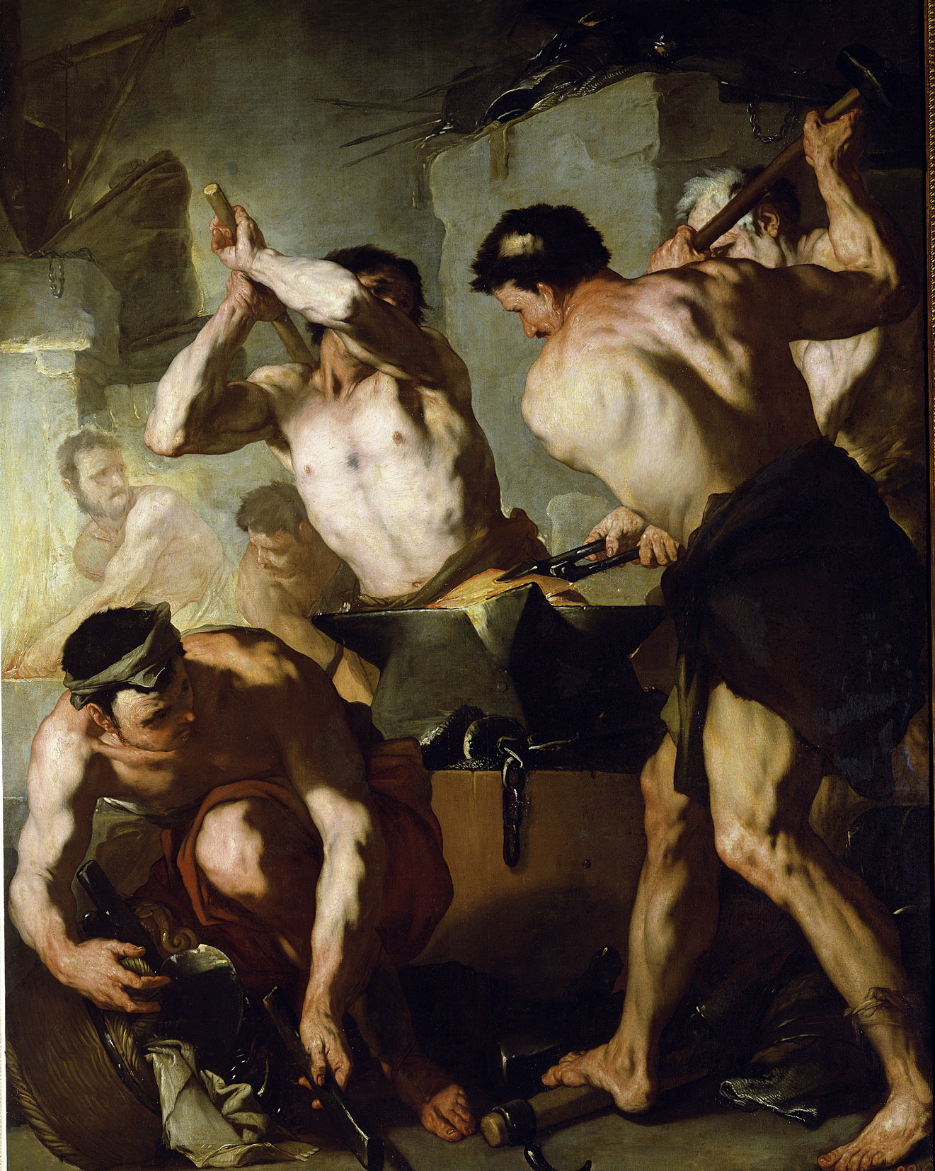 Vulcan's Forge, by Luca Giordano, c. 1660. Hermitage Museum, Saint Petersburg, Russia.