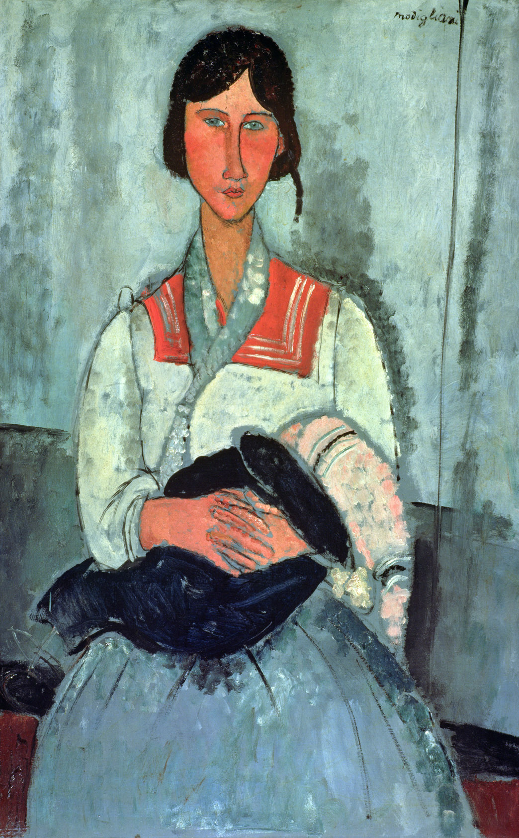 Gypsy Woman with a Baby, by Amedeo Modigliani, 1919. National Gallery of Art, Washington, D.C.
