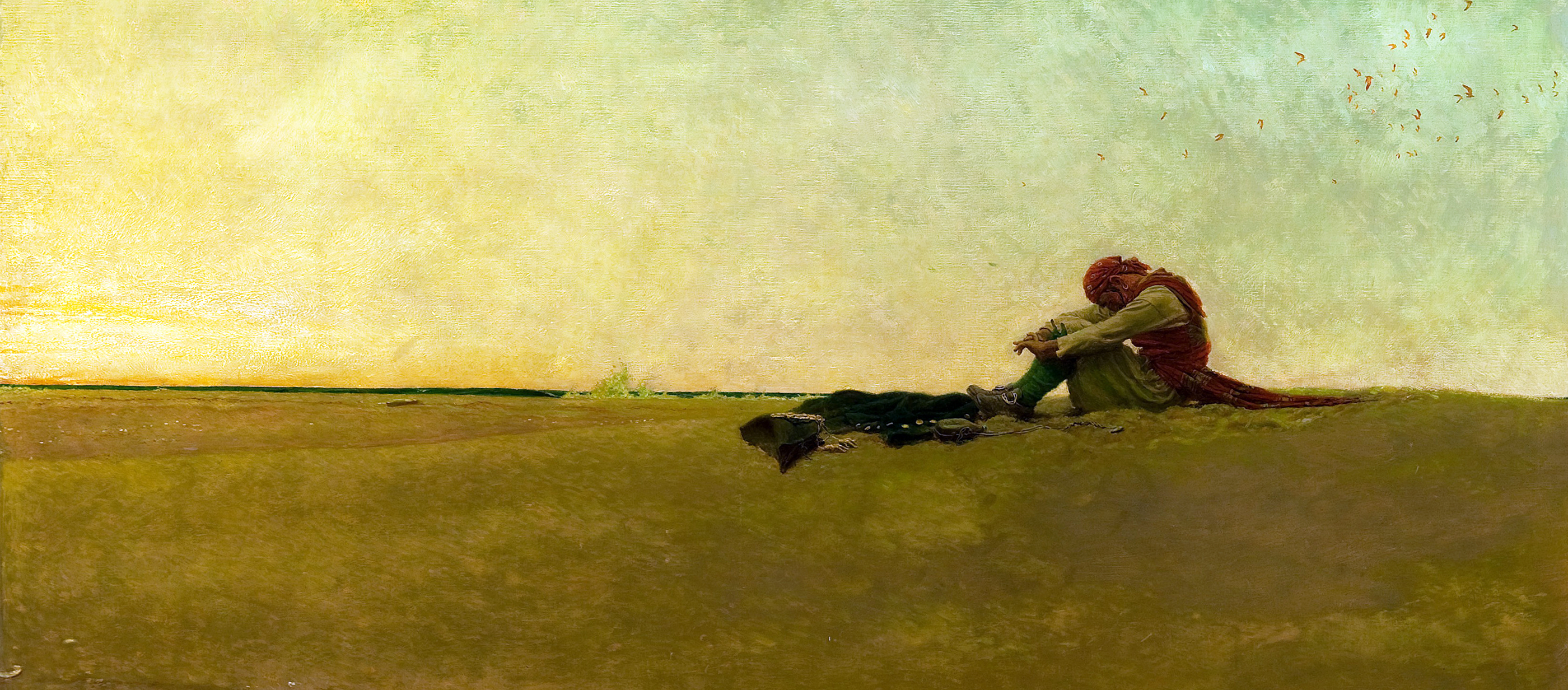 Marooned, by Howard Pyle, 1909.