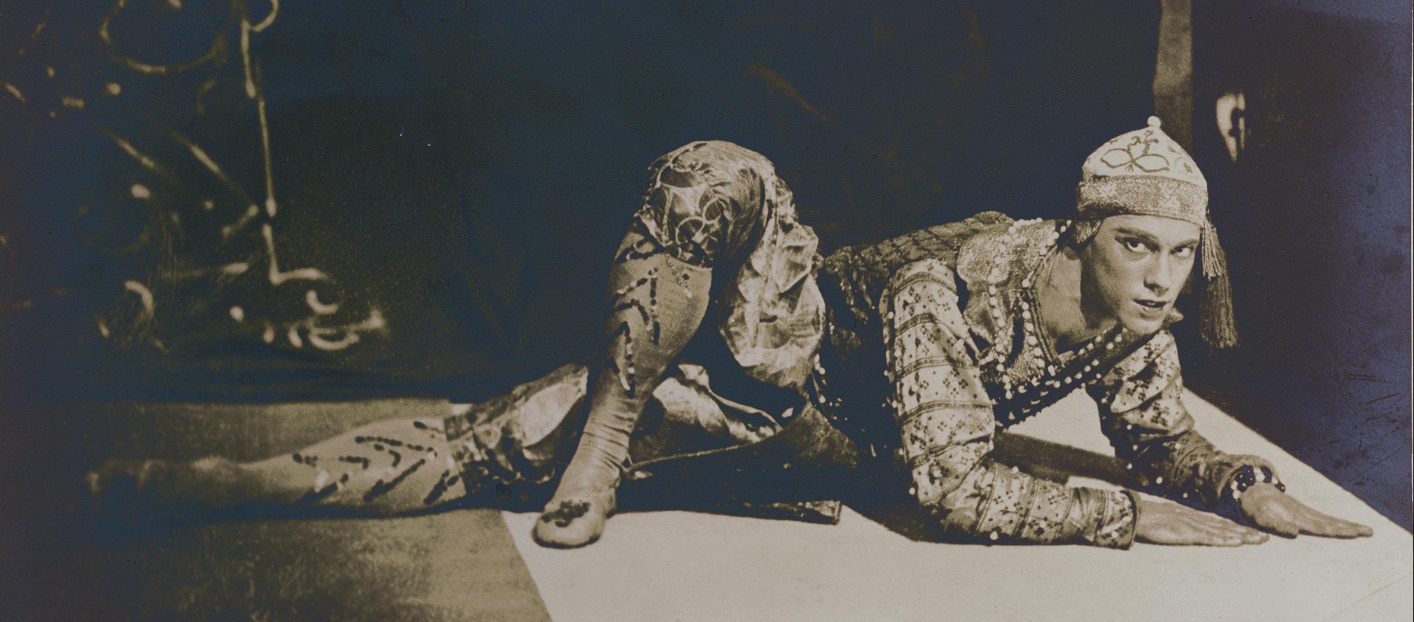 """Vaslav Nijinsky performing the """"Siamese Dance"""" from the ballet Les Orientales, Paris, 1911."""