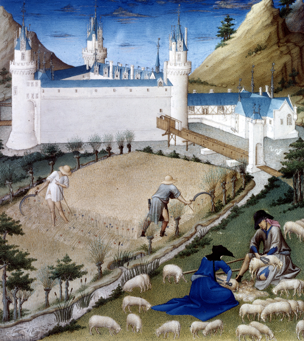 Summer scene, illumination from The Very Rich Hours of the Duke of Berry