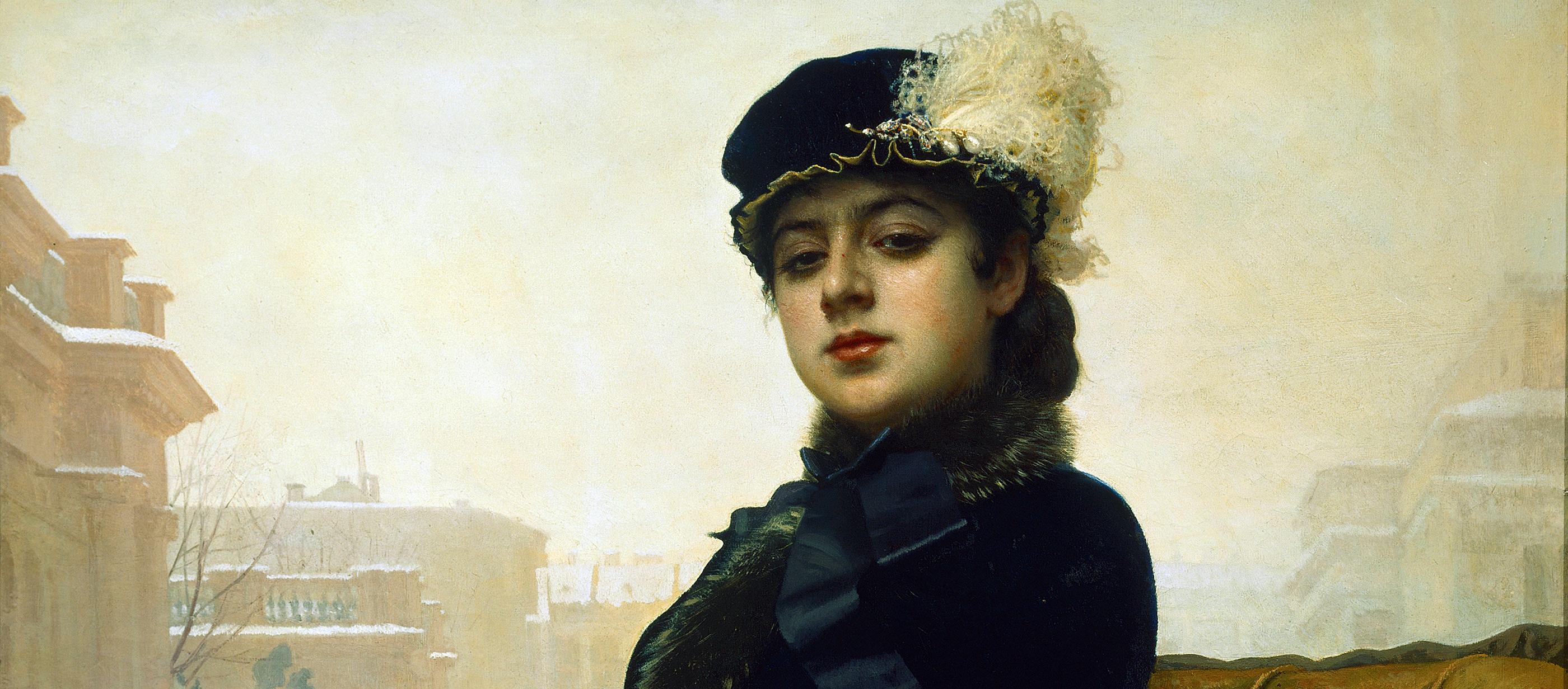 Portrait of an Unknown Woman, by Ivan Kramskoy, 1883.