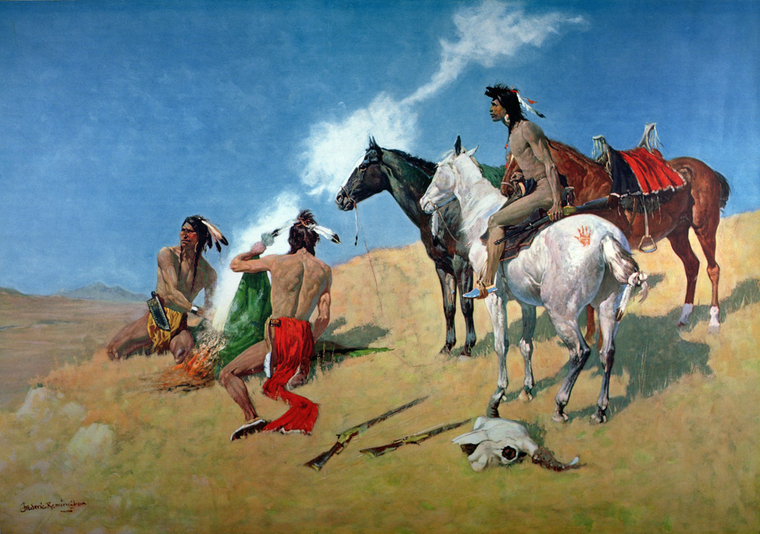 The Smoke Signal, by Frederic Remington, 1905. Amon Carter Museum, Fort Worth, Texas.