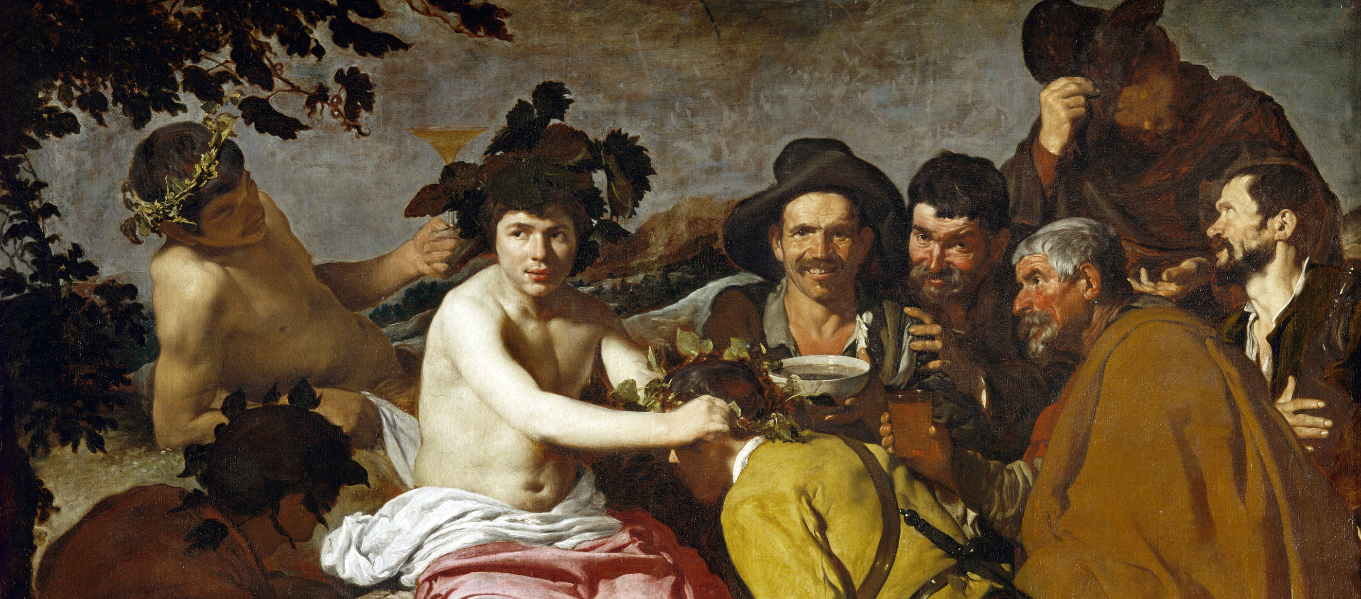 The Triumph of Bacchus (The Drinkers), by Diego Velàzquez, 1628.