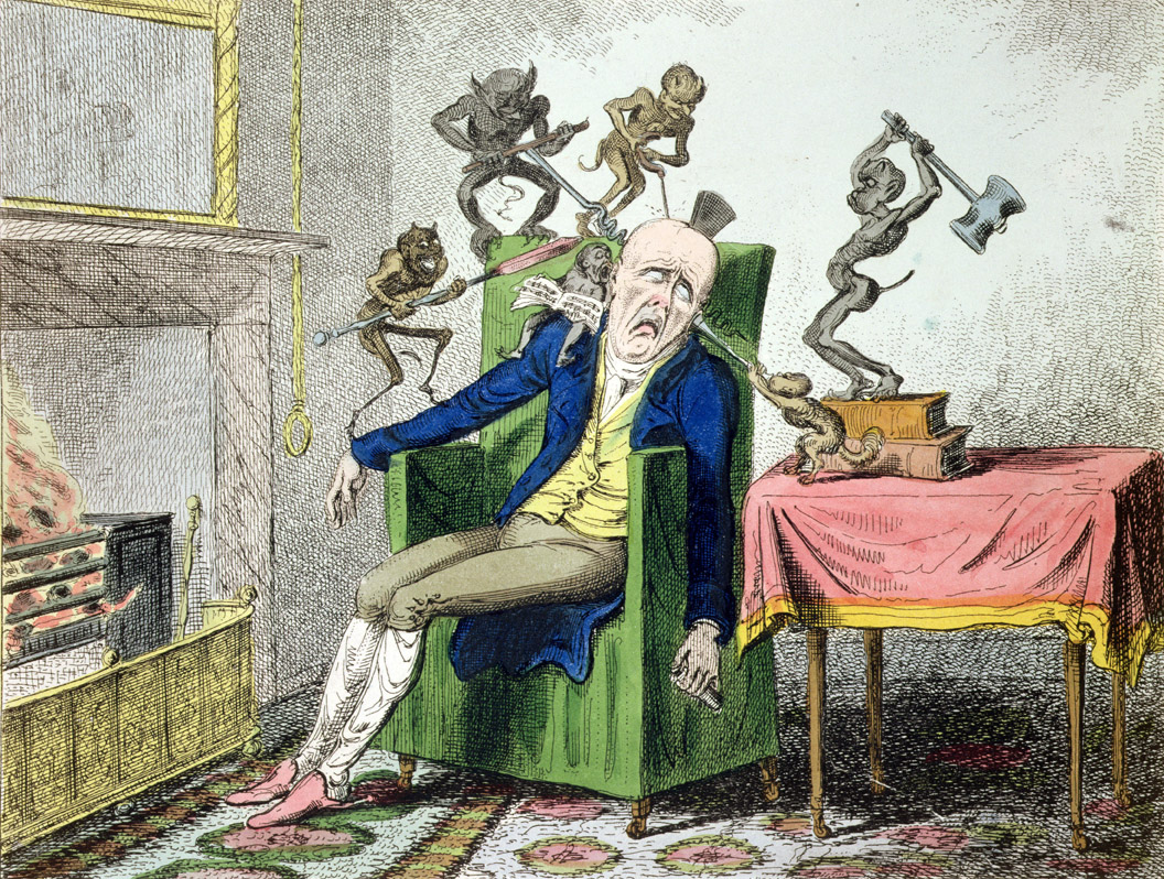 The Headache, by George Cruikshank, c. 1830.